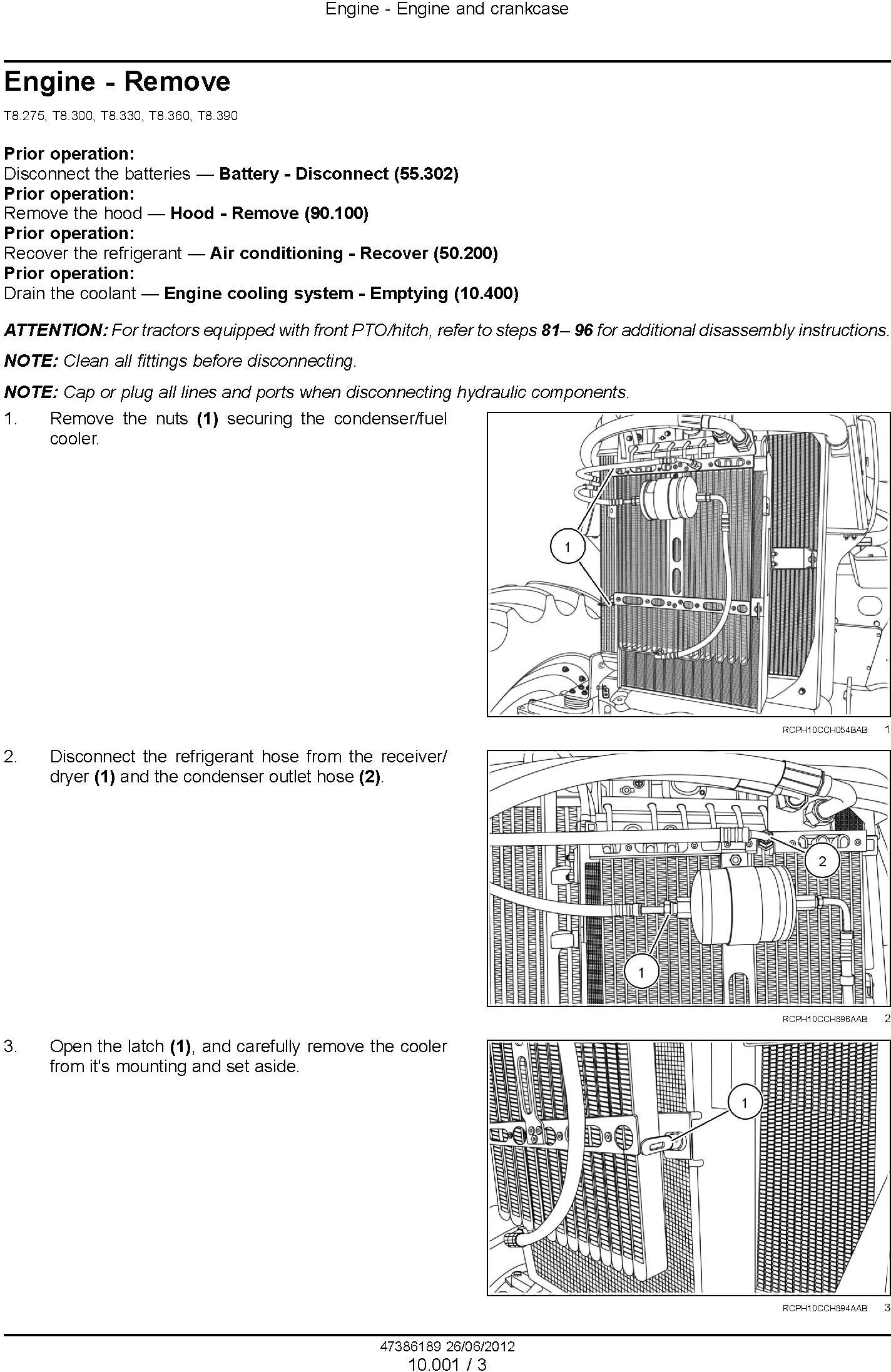 New Holland T8.275, T8.300, T8.330, T8.360, T8.390 (PIN. ZBRC07000 and after) Tractor Service Manual - 1