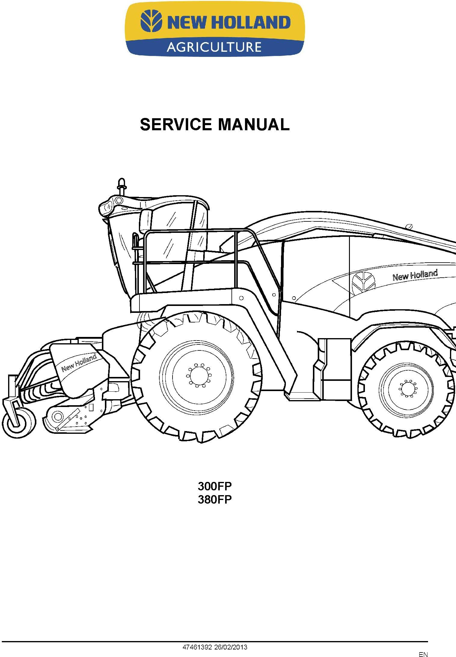 New Holland 300FP, 380FP Header Service Manual - 1