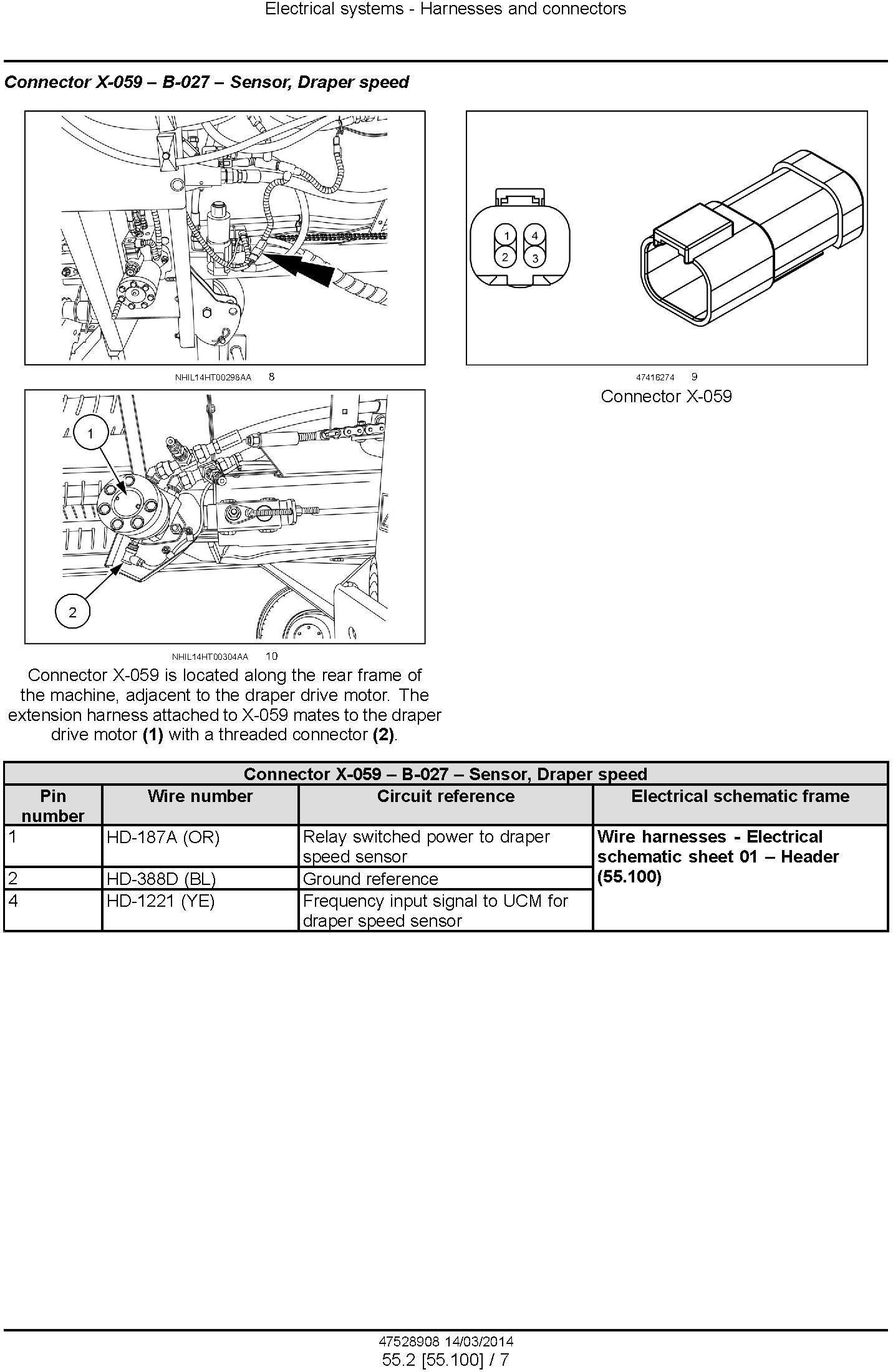New Holland DuraSwath 425HB, 430HB, 436HB, 440HB Draper Header Service Manual - 2