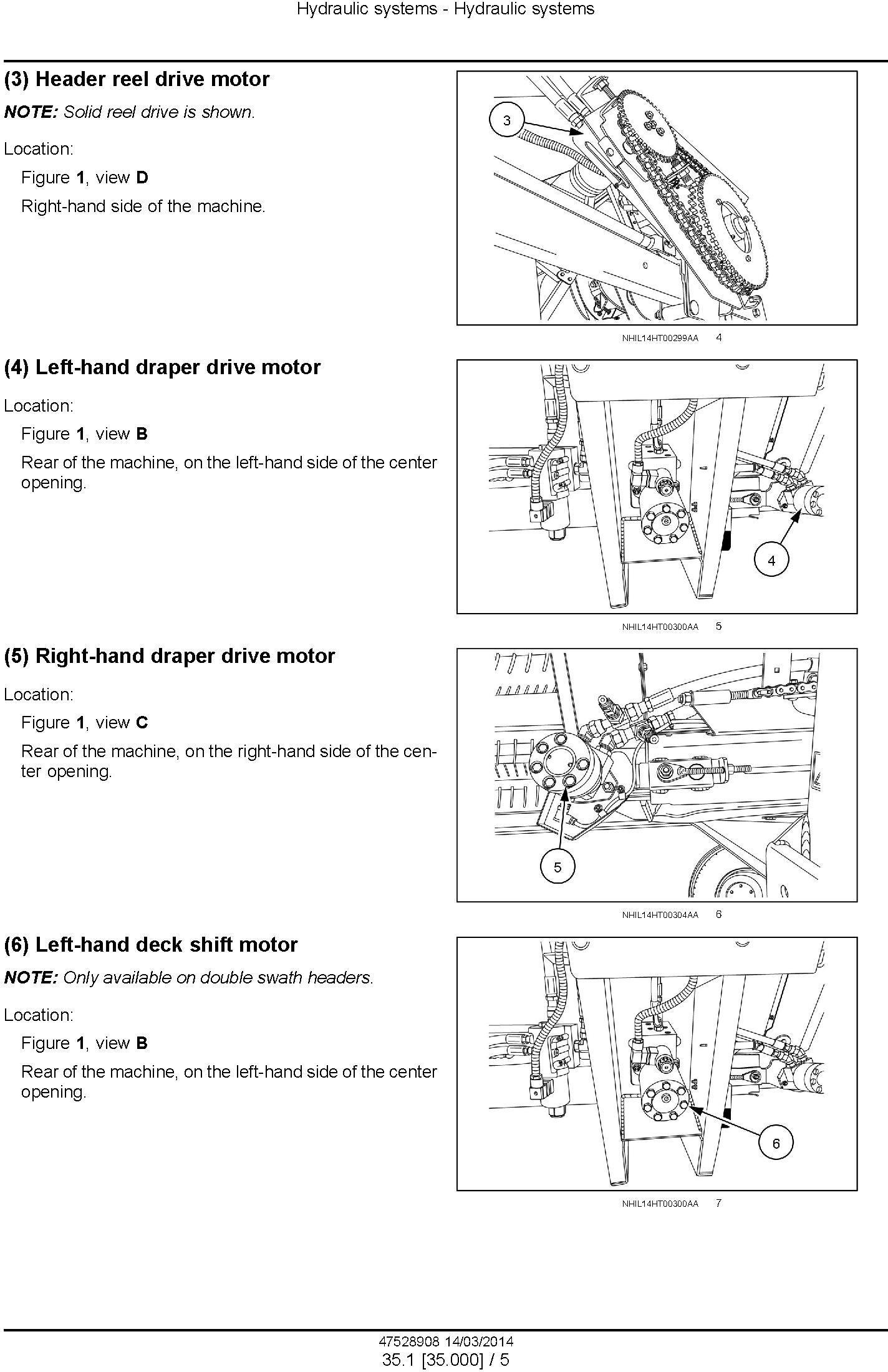 New Holland DuraSwath 425HB, 430HB, 436HB, 440HB Draper Header Service Manual - 1