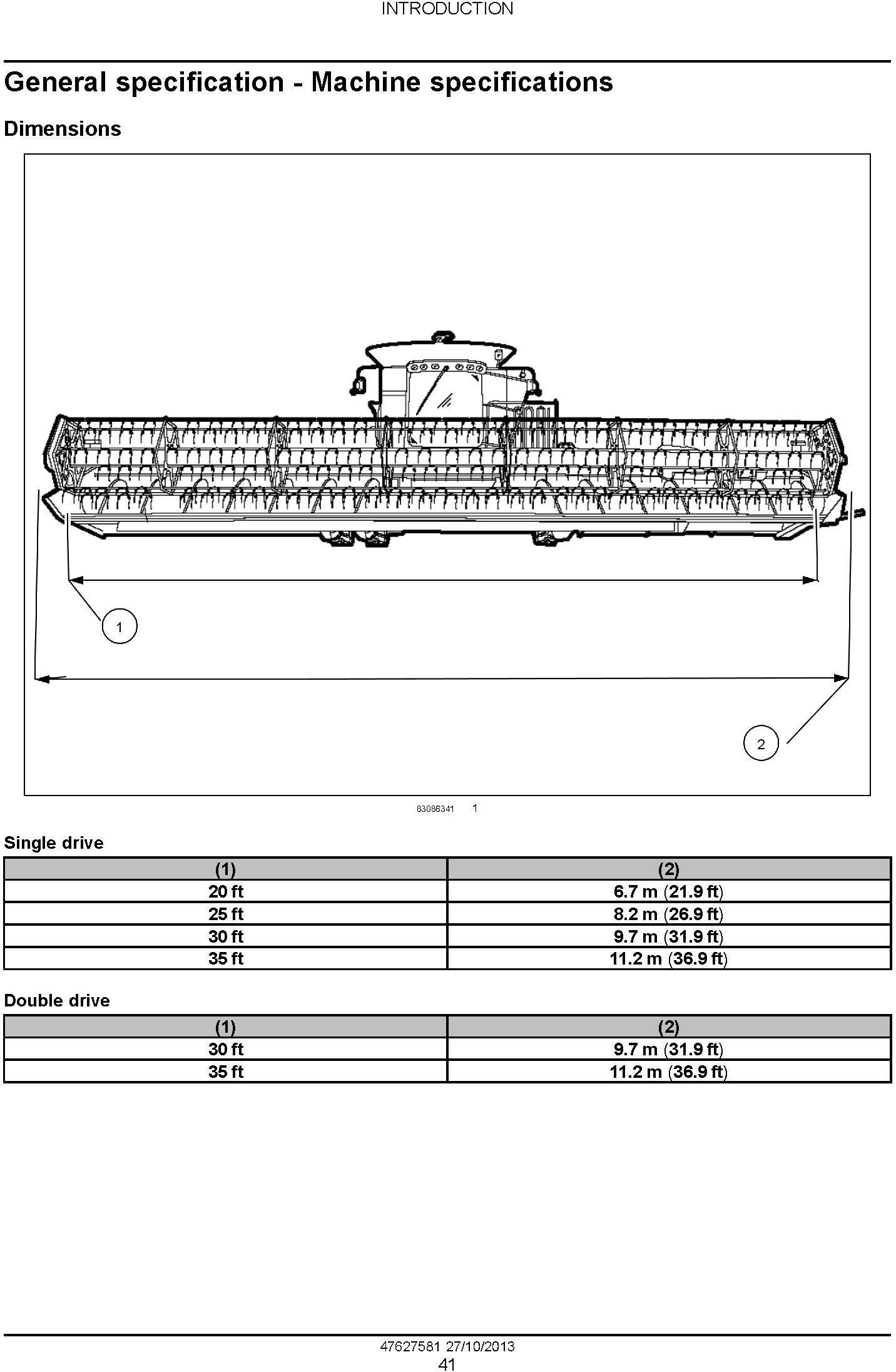 New Holland 740CF Super Flex Auger Header Service Manual - 2