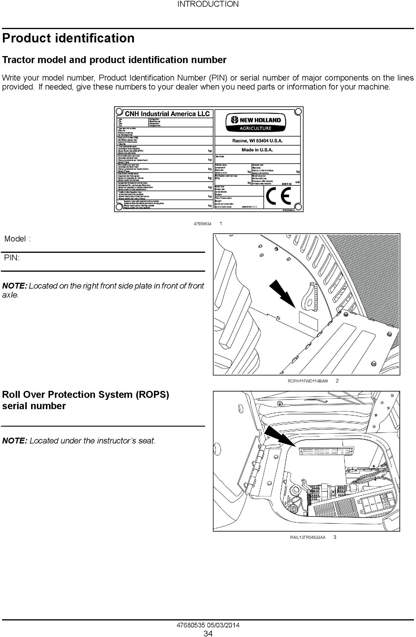New Holland T9.435, T9.480, T9.530, T9.565, T9.600, T9.645, T9.700 European Tractor Service Manual - 1