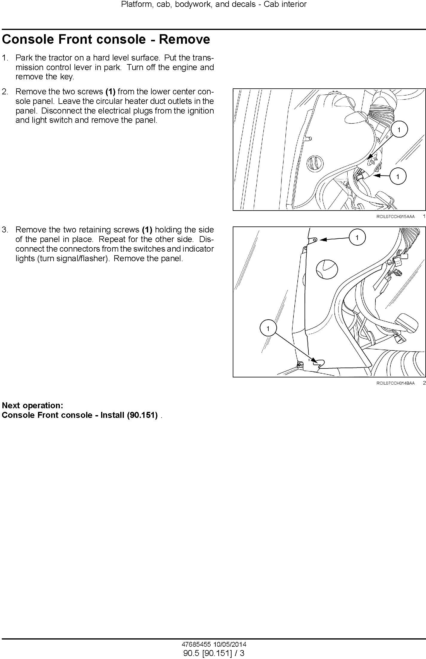 New Holland T8.320, T8.350, T8.380, T8.410, T8.435 Tractor w.CVT Transmission Service Manual (USA) - 2