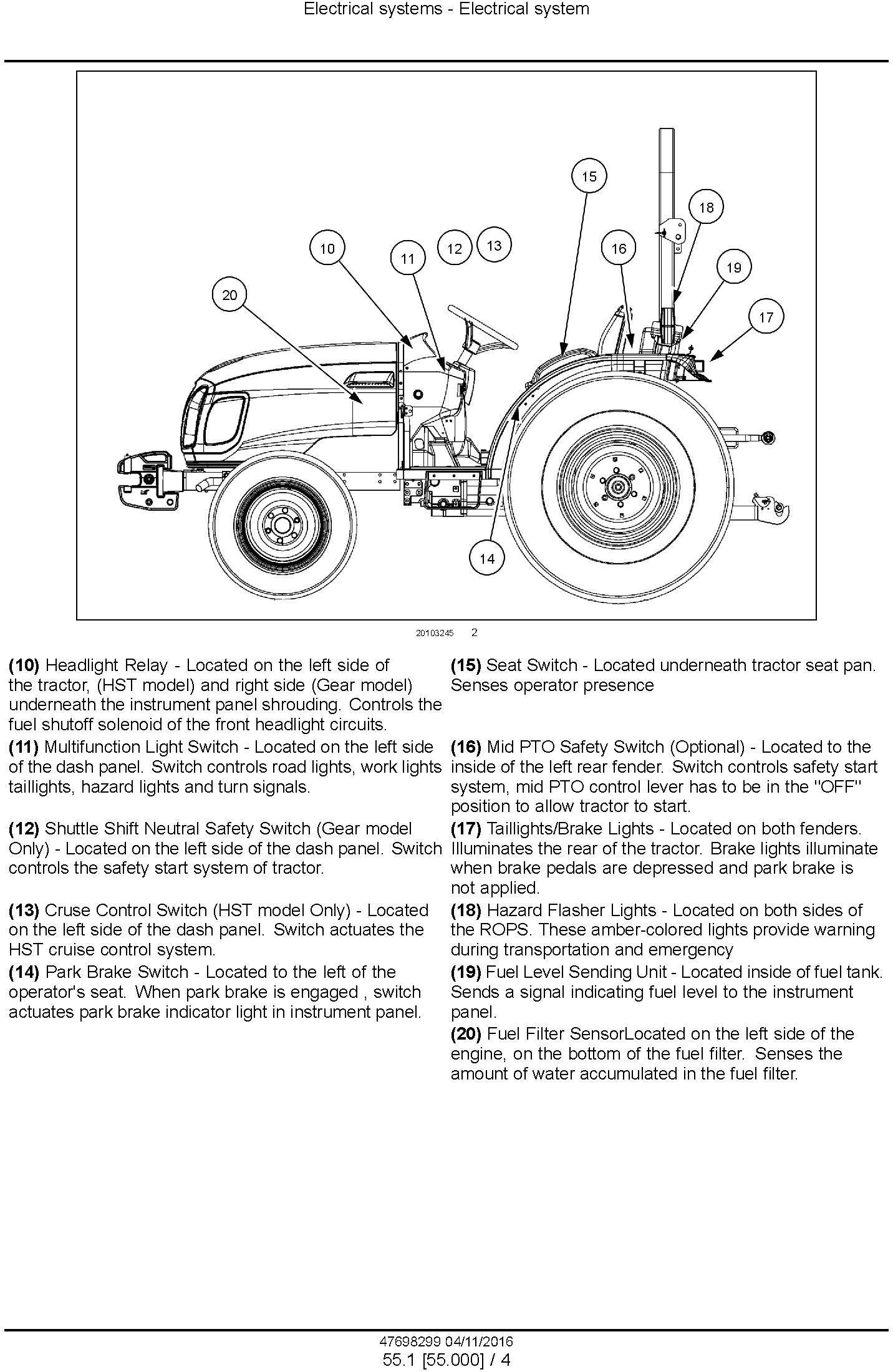 New Holland Boomer 40, Boomer 50 Tier 3 Compact tractor Complete service manual - 2