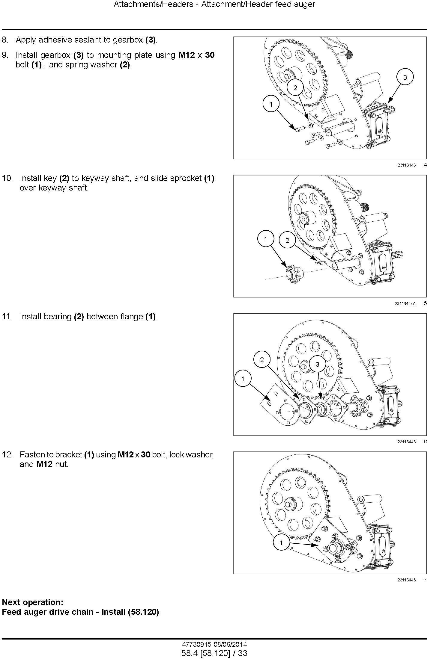 New Holland 840CD, 880CF Draper Header Service Manual - 2