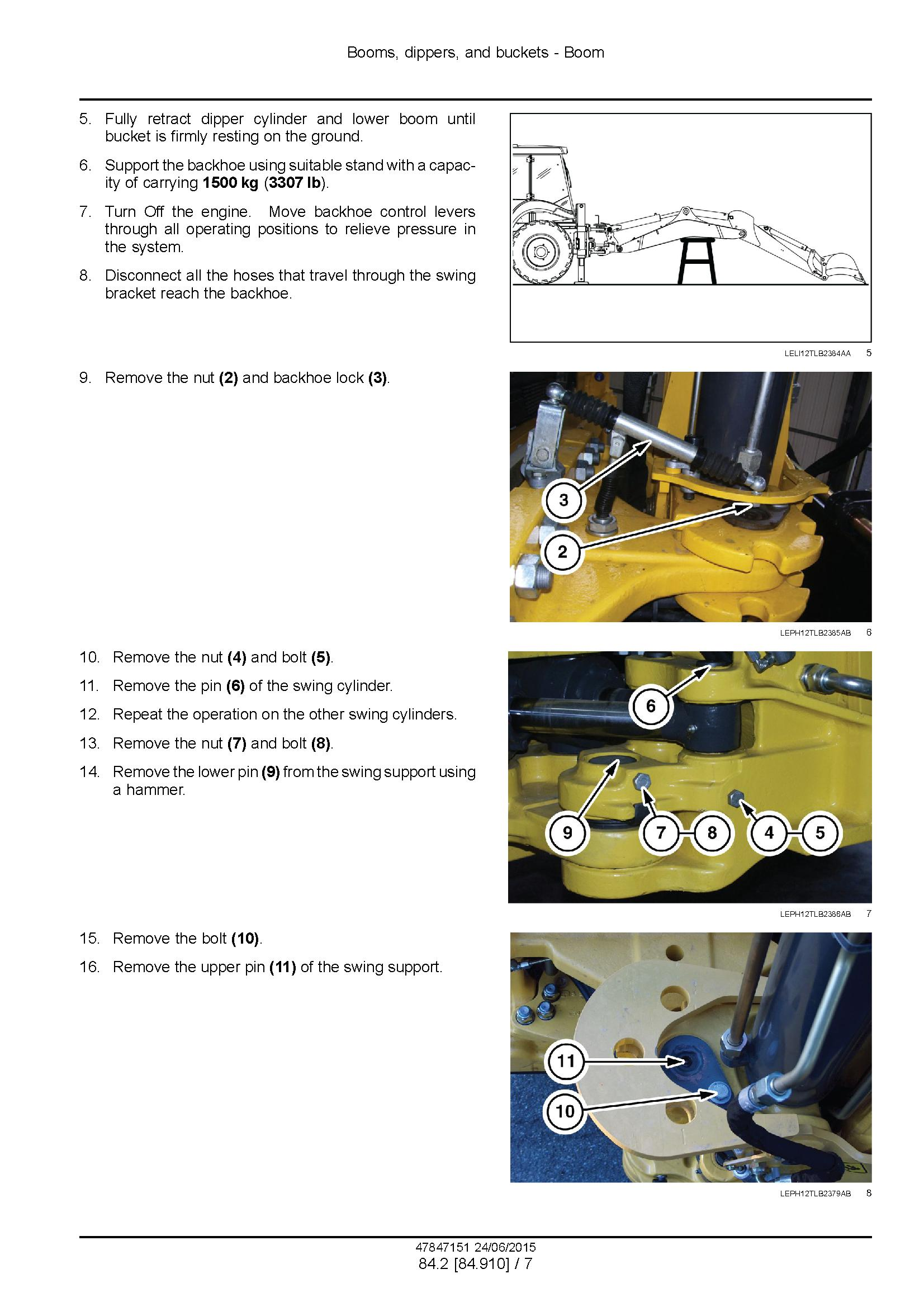New Holland B100C, -LR -TC, B110C TC, B115C Stage III B Tractor loader backhoe Service Manual - 2