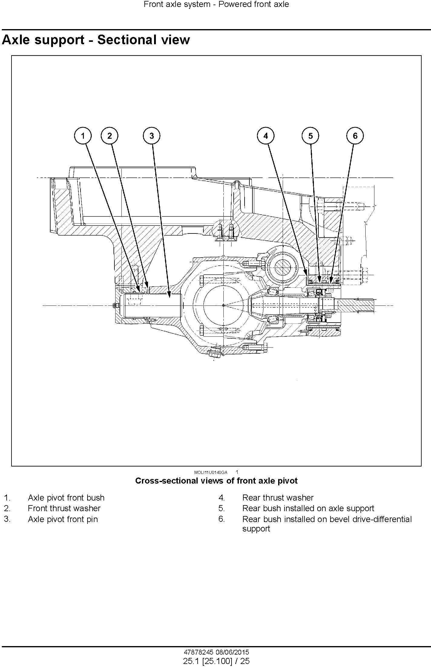 New Holland T4.90, T4.100, T4.110, T4.120 Tractor Tier 4B final Complete Service Manual (USA) - 2