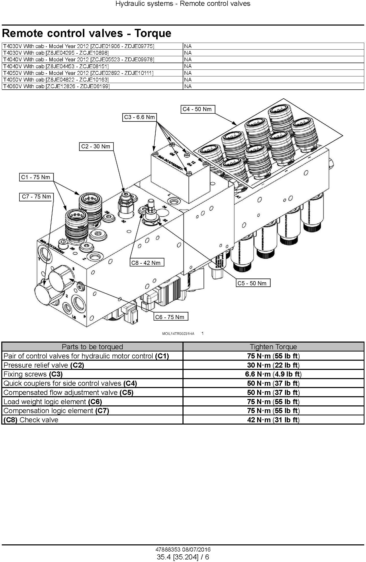 New Holland T4030V, T4040V, T4050V, T4060V Tier 3 Tractor Complete Service Manual (North America) - 2