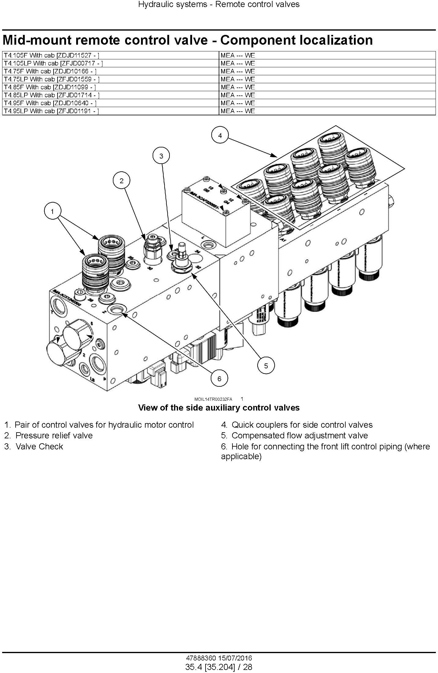 New Holland T4.75F T4.85F T4.95F T4.105F; T4.75LP T4.85LP T4.95LP T4.105LP Tractor Service Manual - 3