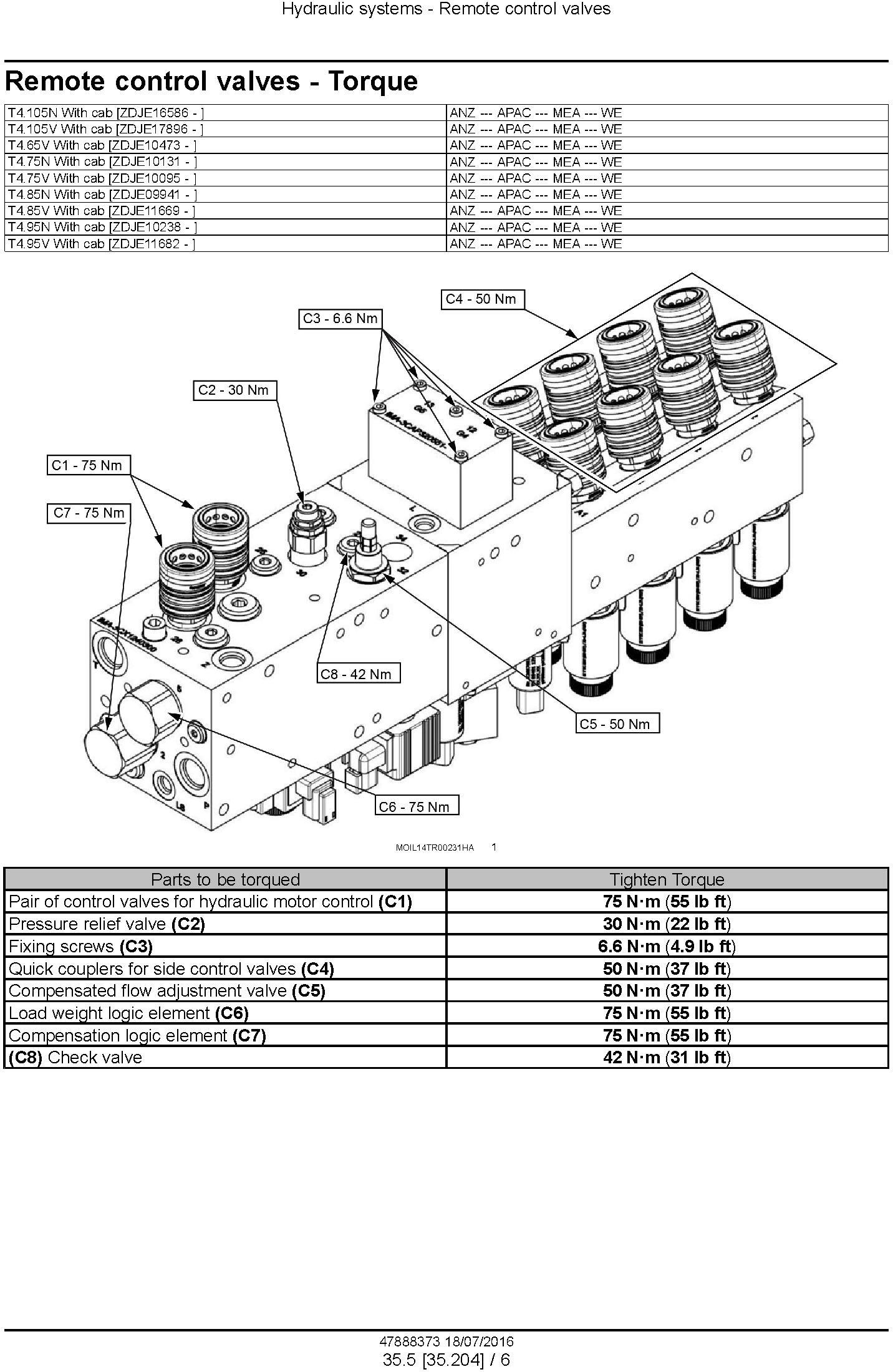 New Holland T4.75N T4.85N T4.95N T4.105N; T4.65V T4.75V T4.85V T4.95V T4.105V Tractor Service Manual - 3
