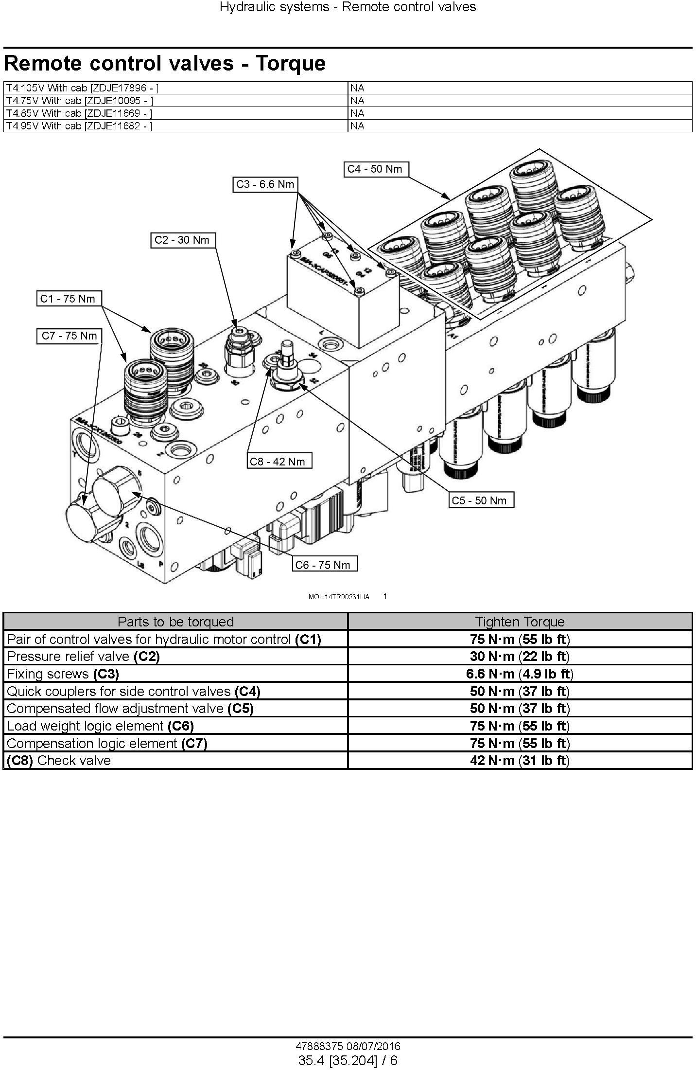 New Holland T4.75V, T4.85V, T4.95V, T4.105V Tier 3 Tractor Complete Service Manual (North America) - 3