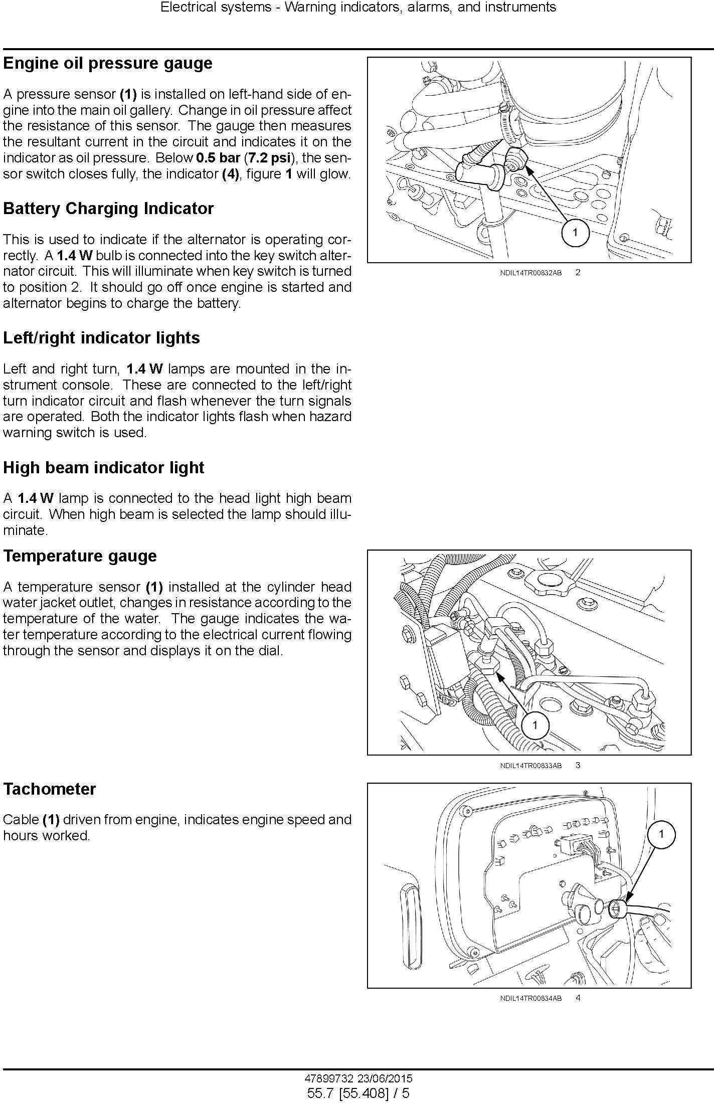 New Holland TT55, TT65, TT75 2WD and 4WD Tier 3 Tractors Service Manual - 1