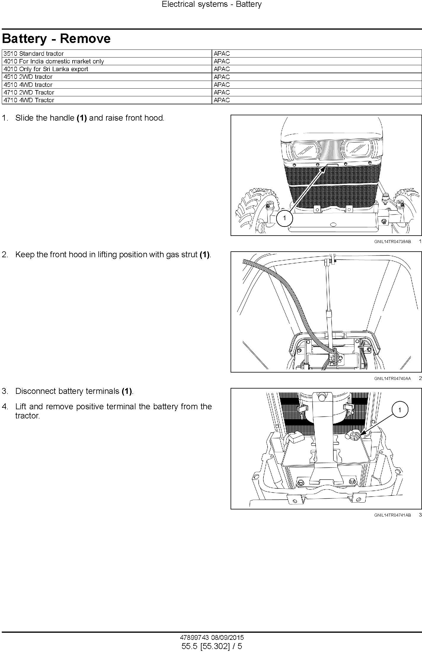 New Holland 3510, 4010, 4510, 4710 Tractor Service Manual - 1