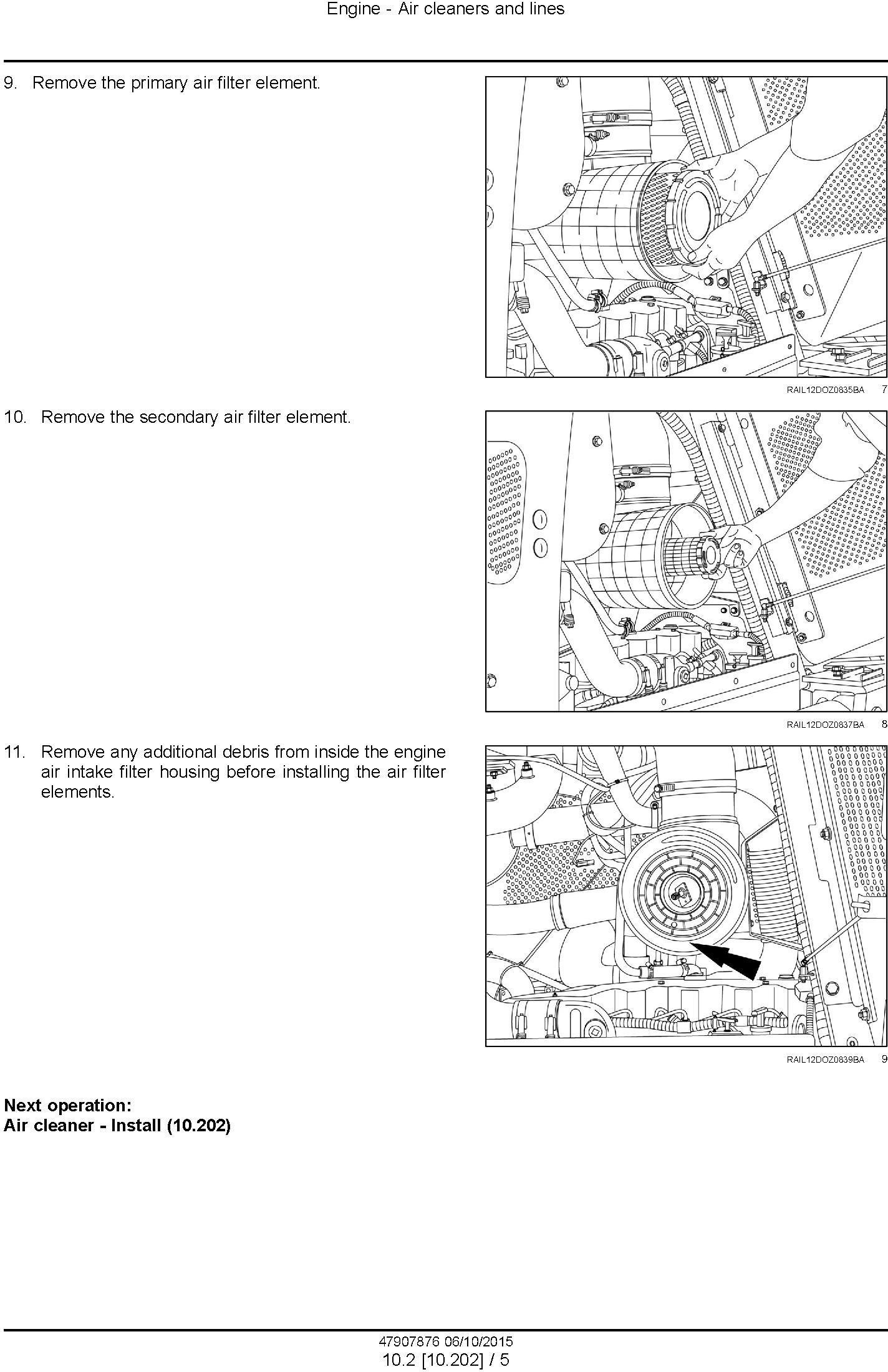 New Holland D150C Stage IIIB Crawler dozer Service Manual - 2