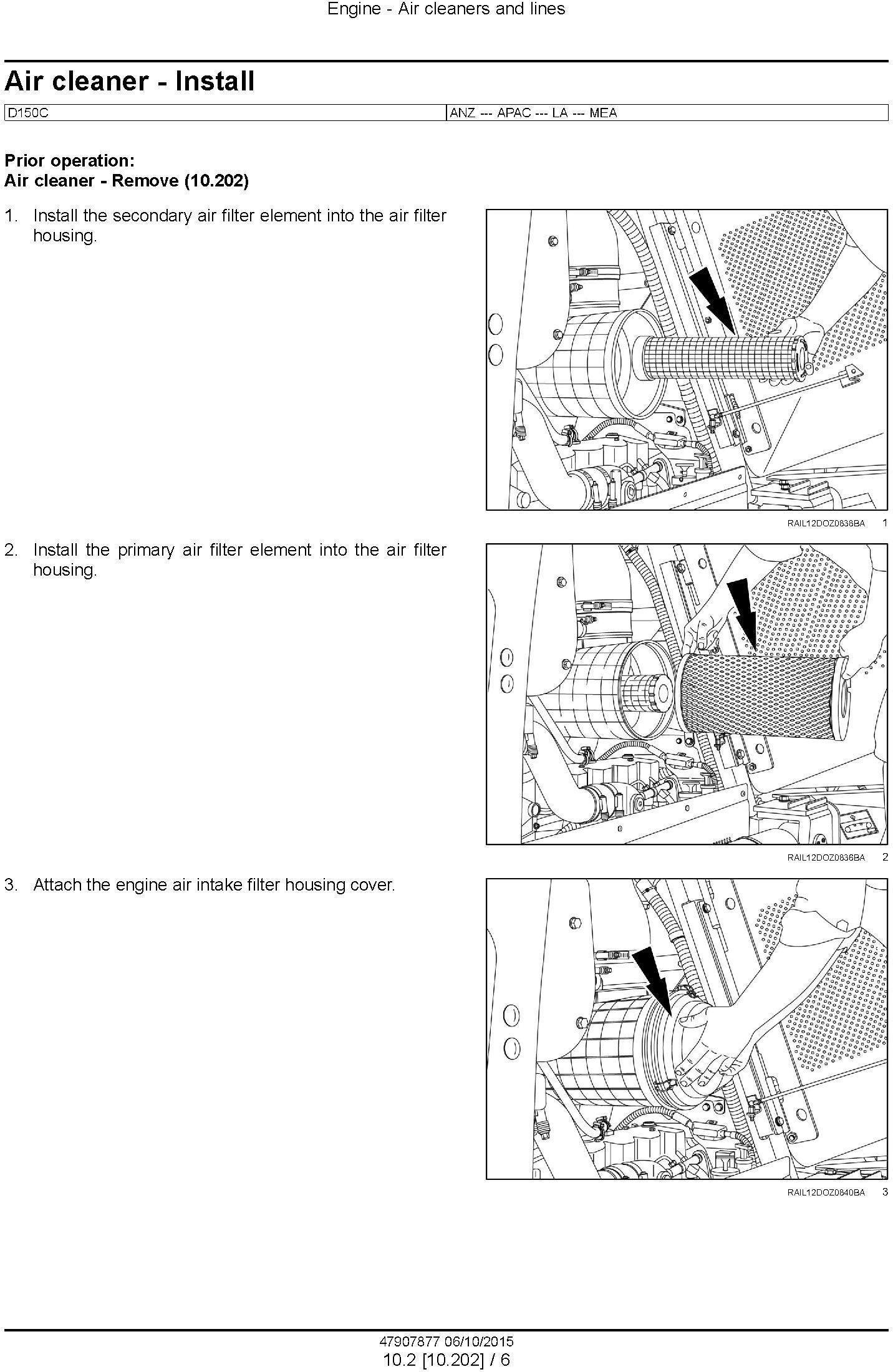 New Holland D150C Tier 2 Crawler dozer Service Manual - 1