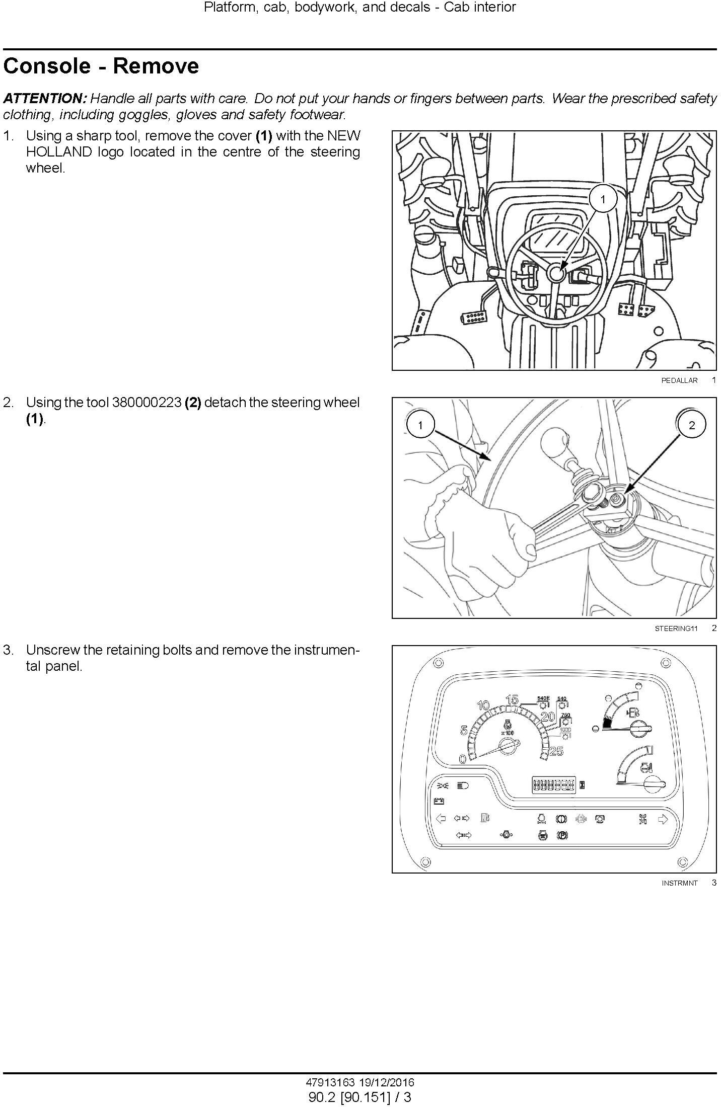 New Holland TD65F, TD75F, TD85F Tractor Service Manual - 1