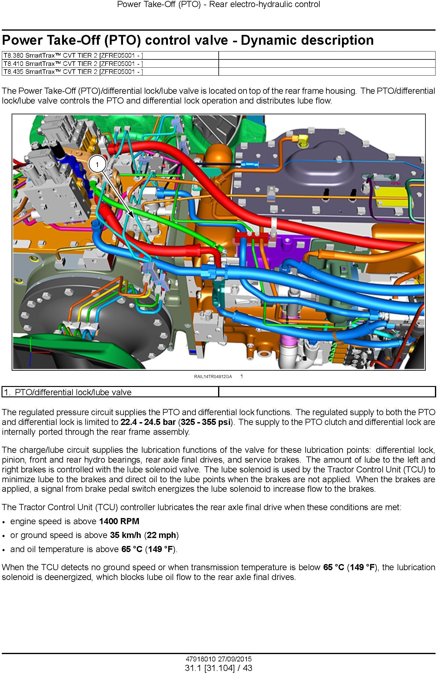 New Holland T8.320, T8.350, T8.380, T8.410, T8.435 and SmartTrax Tier 2 CVT Tractor Service Manual - 2