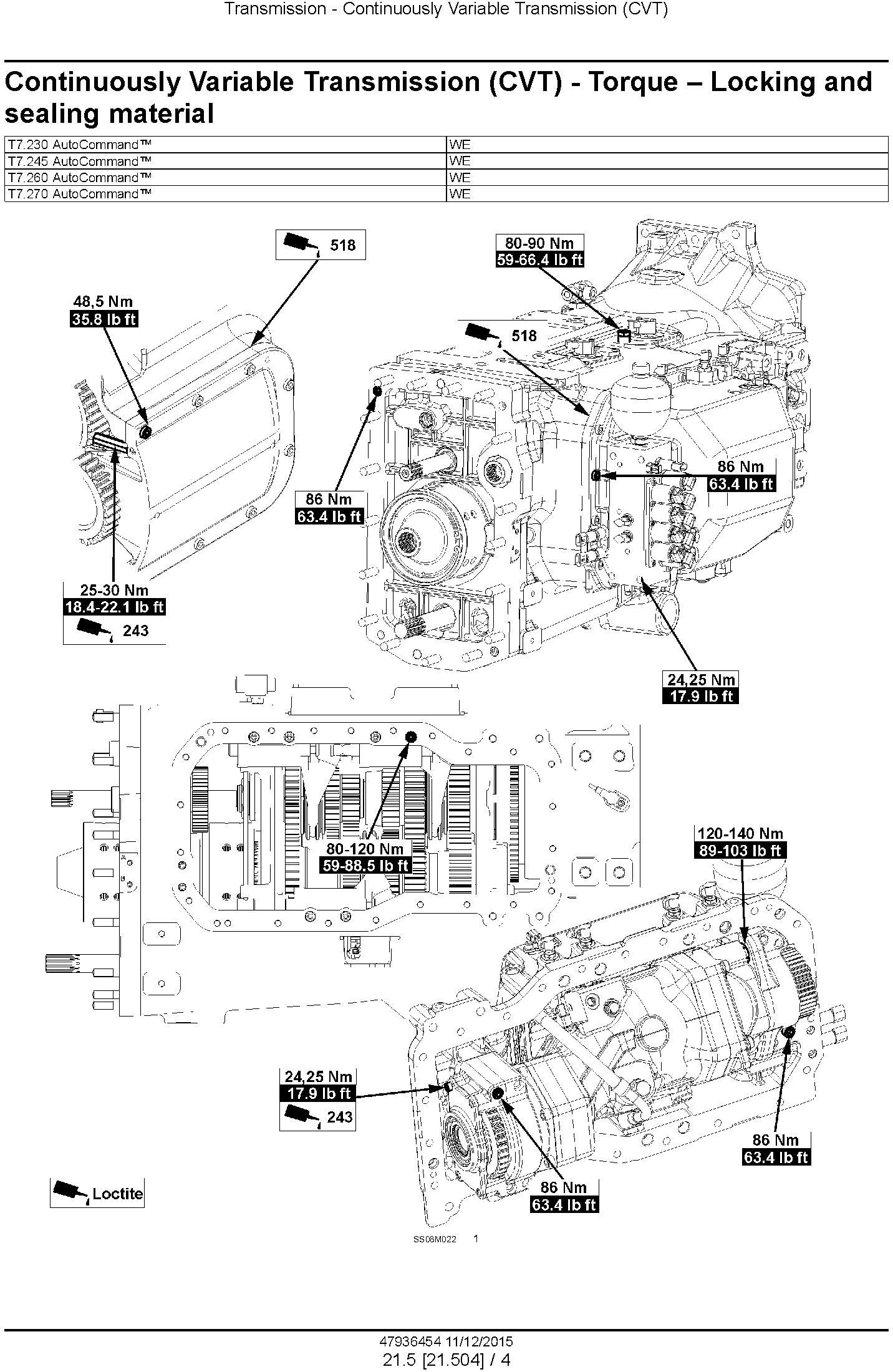 New Holland T7.230, T7.245, T7.260, T7.270 and AutoCommand Stage IV Tractor Service Manual (Europe) - 3