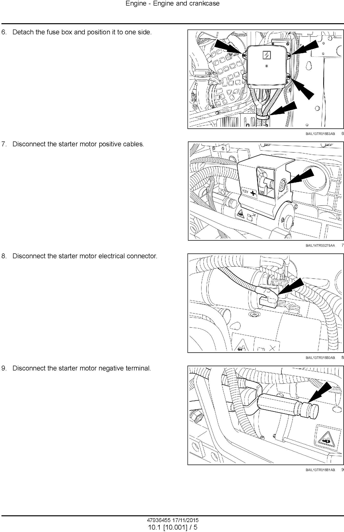 New Holland T7.230, T7.245, T7.260, T7.270 AutoCommand Tier 4B (final) Complete Service Manual (USA) - 1