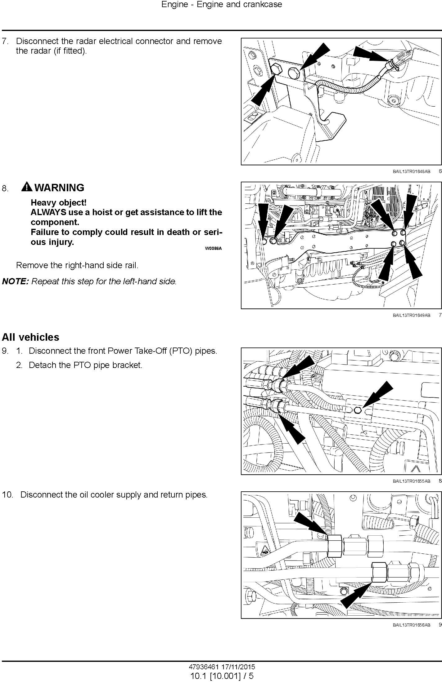 New Holland T7.175, T7.190, T7.210, T7.225 Auto Command Stage IV Tractors Service Manual (Europe) - 1