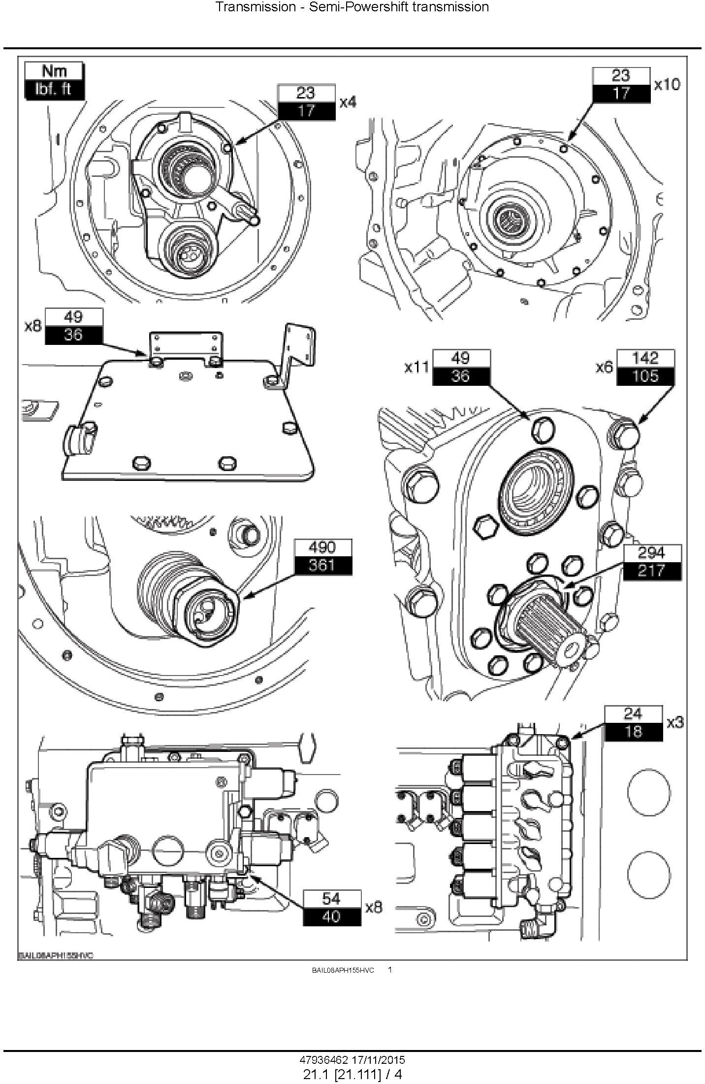 New Holland T7.175, T7.190, T7.210, T7.225 AutoCommand Tier 4B (final) Tractor Service Manual (USA) - 3