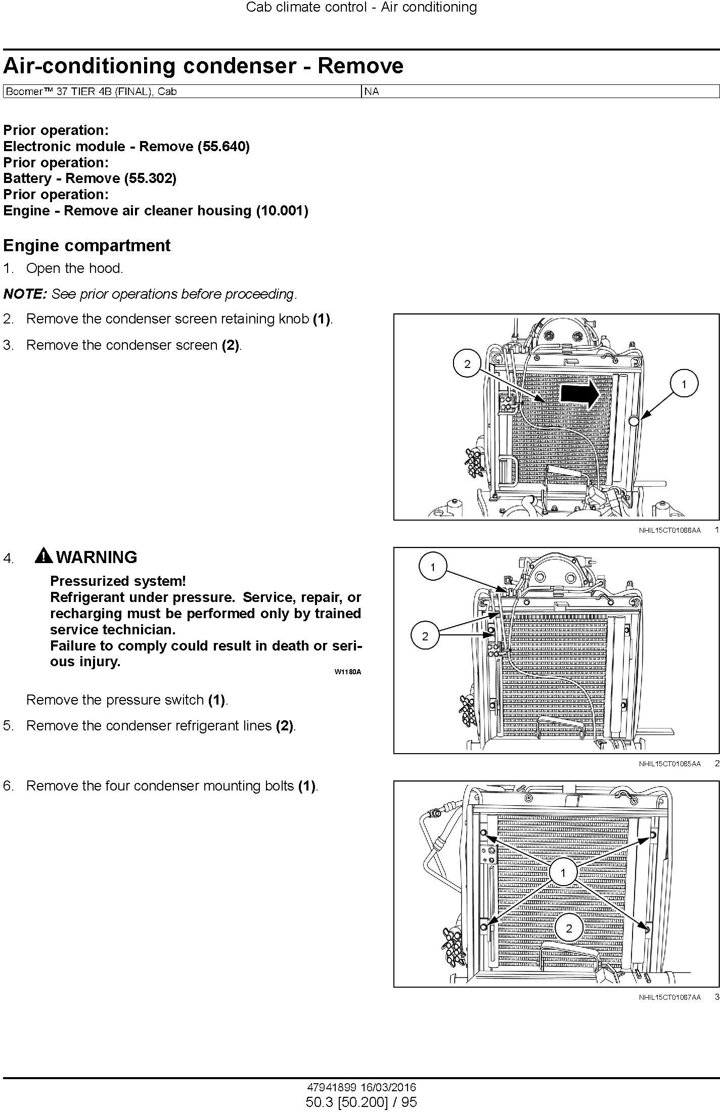 New Holland Boomer 33, 37 Tier 4B (final) Compact Tractor Complete Service Manual (North America) - 3