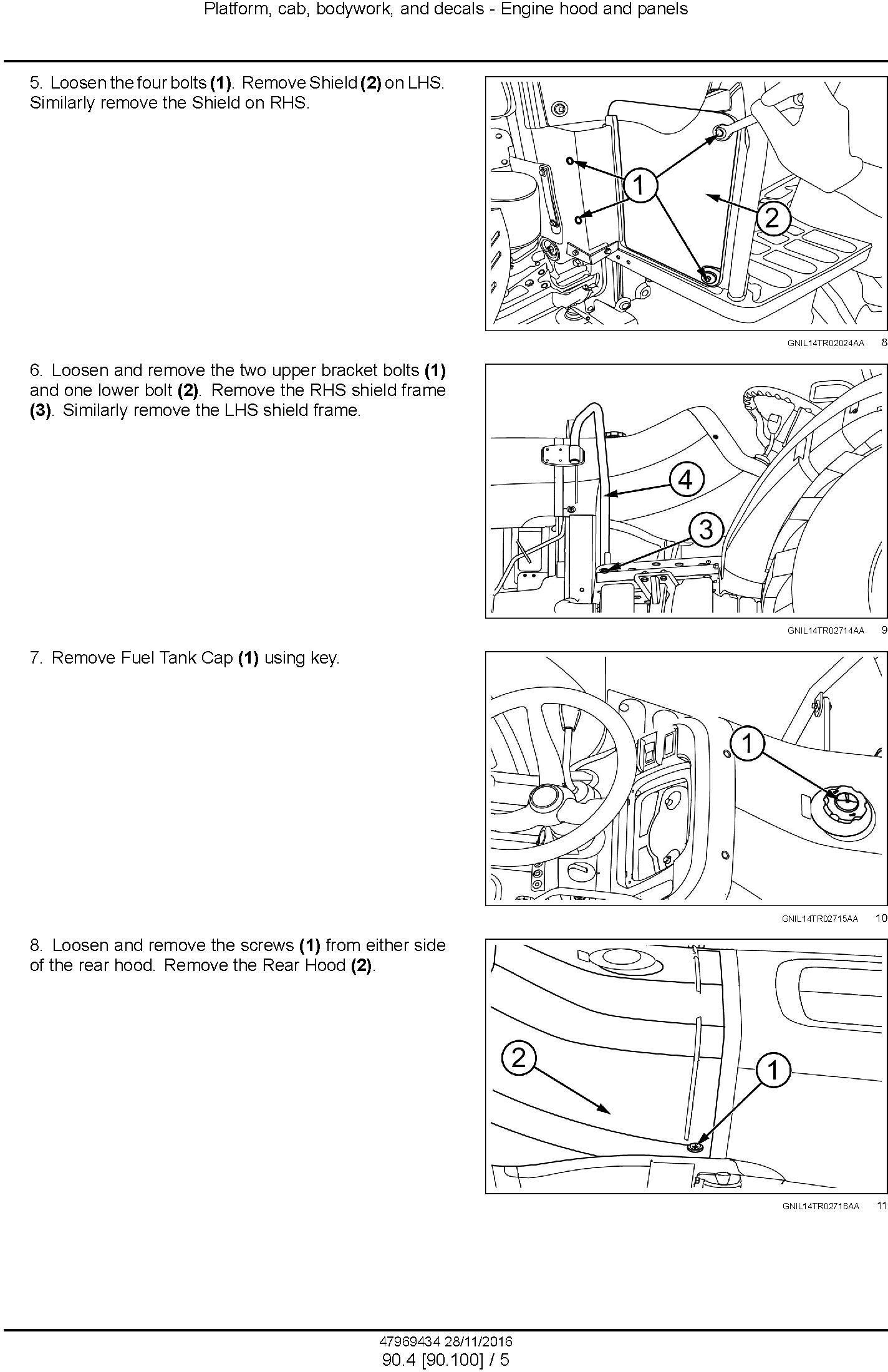 New Holland TT4.55, TT4.65, TT4.75 Tier 3 Tractor Service Manual - 2