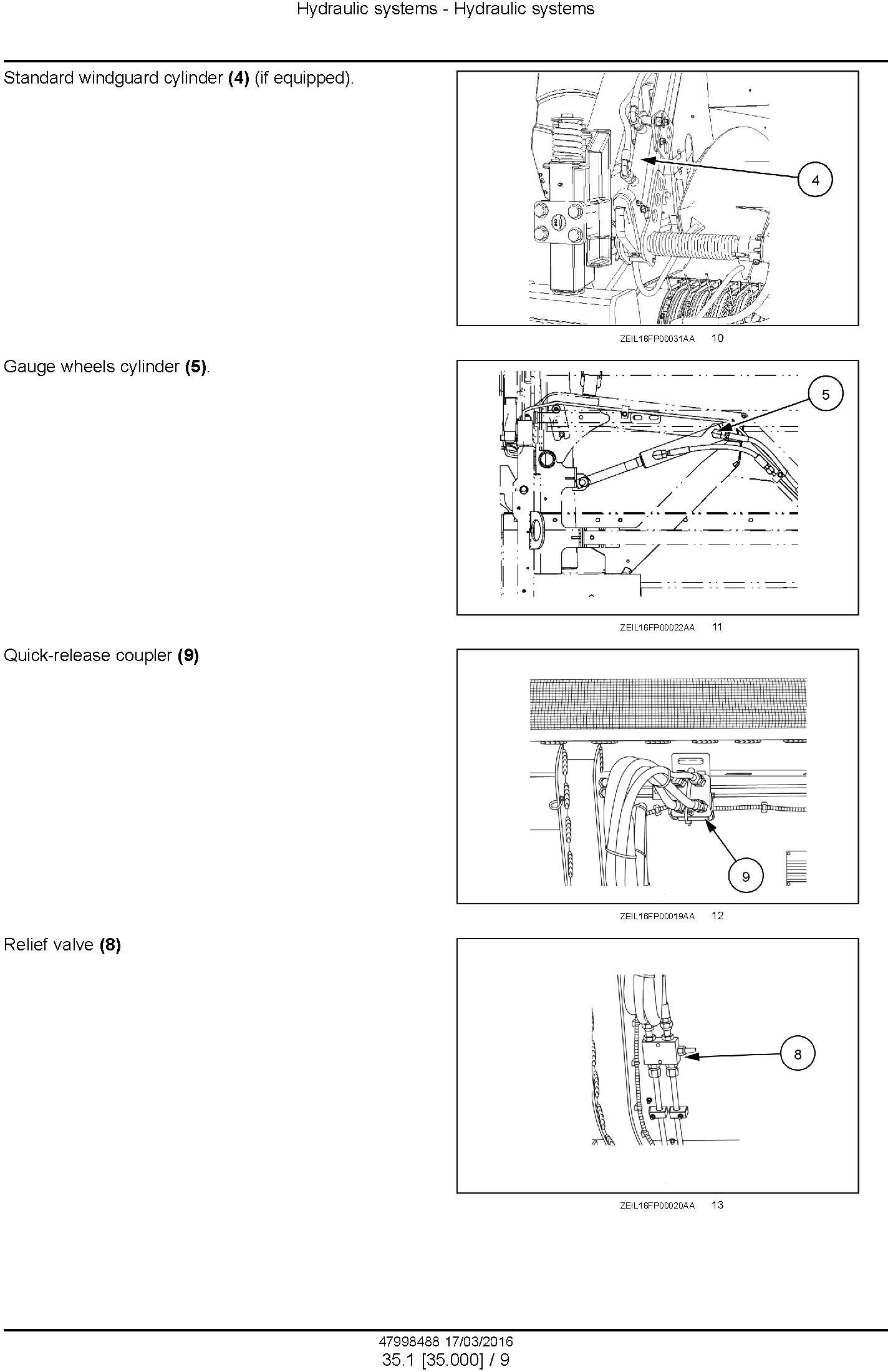 New Holland 300FP, 380FP Header (from PIN 3501) Service Manual - 2