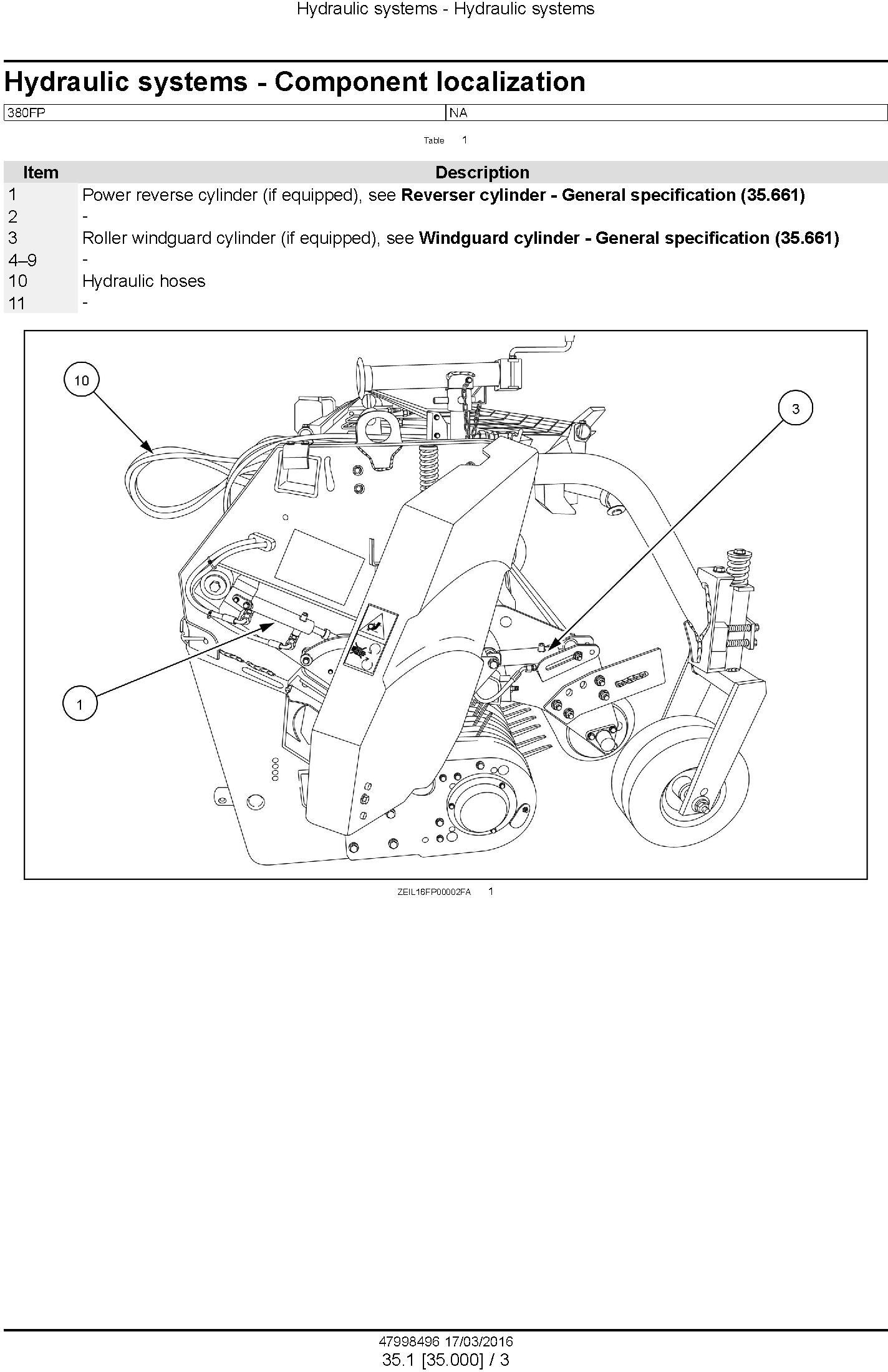 New Holland 380FP Header Service Manual - 1