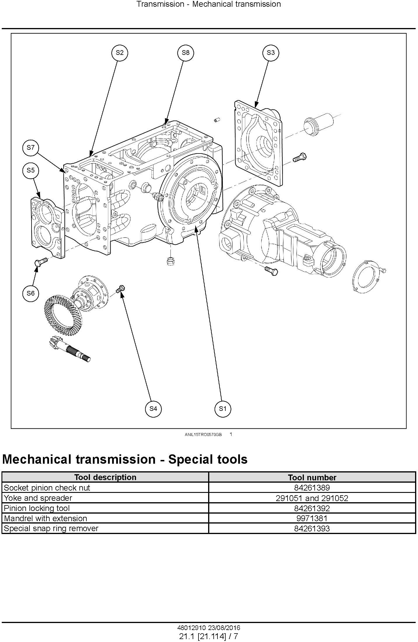 New Holland TD3.50 Tractor Service Manual (Europe) - 1