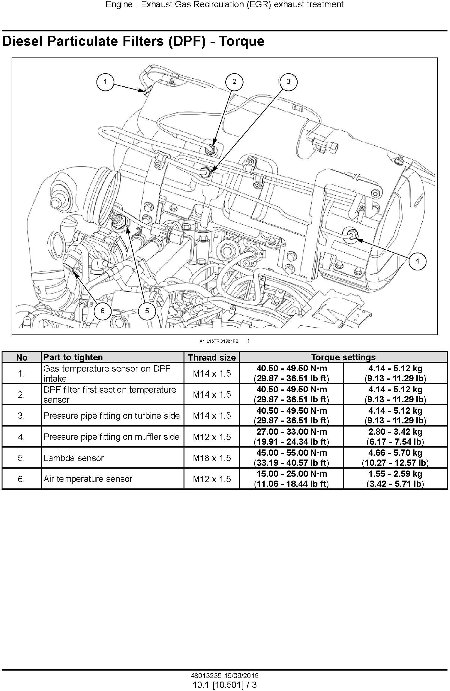 New Holland TD5.85, TD5.95, TD5.105, TD5.115 Tractor Service Manual - 1