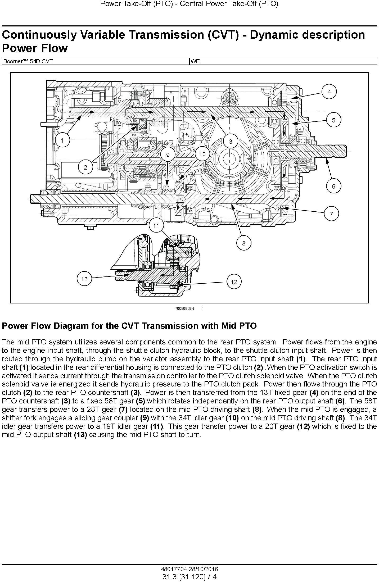 New Holland Boomer 54D CVT Tier 4B (final) Compact tractor Service Manual - 2
