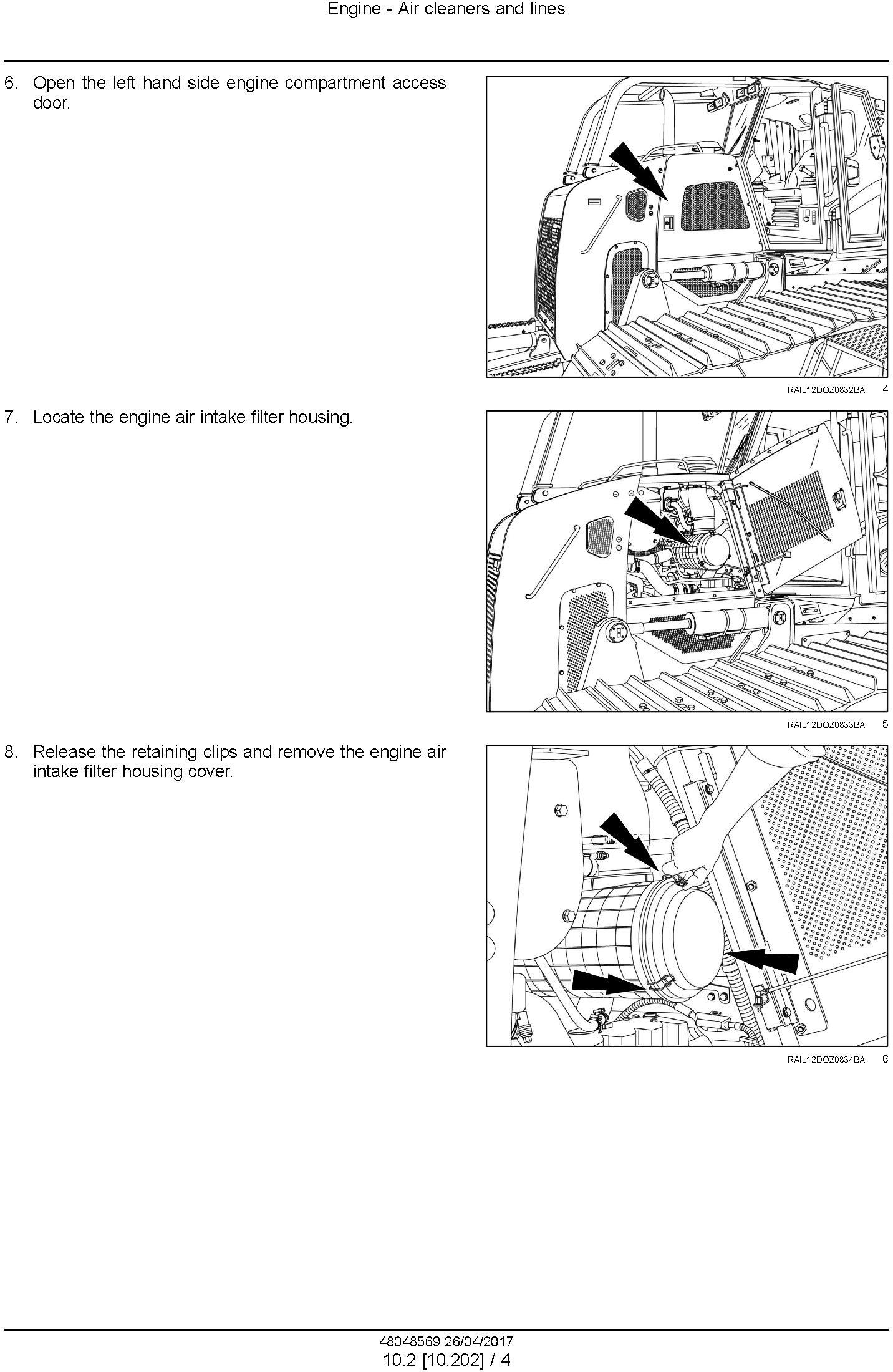 New Holland D150C Tier 2 Crawler Dozer Service Manual - 2