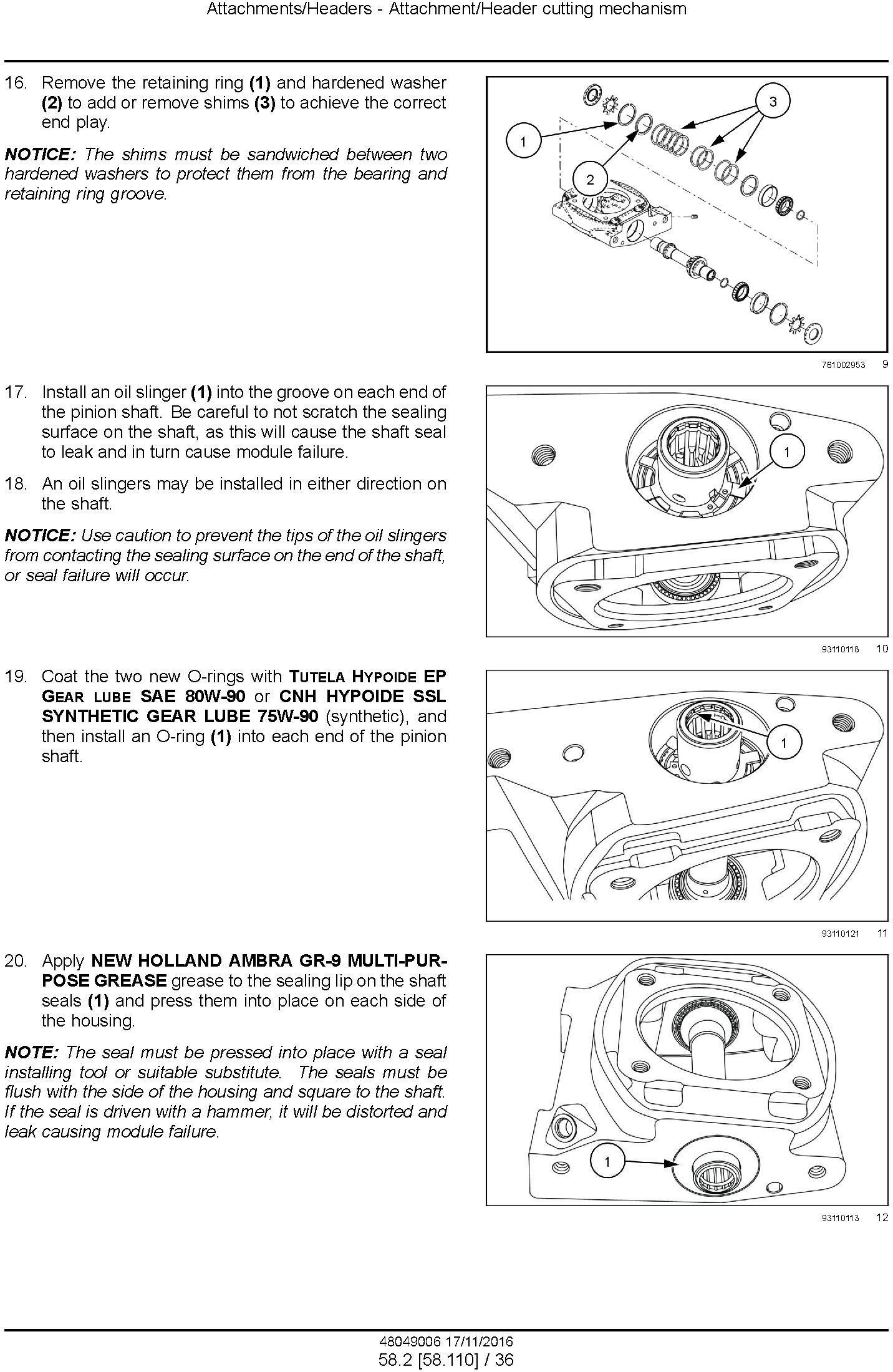 New Holland Durabine 416, 419, Durabine 416 Specialty Disc header Service Manual - 3