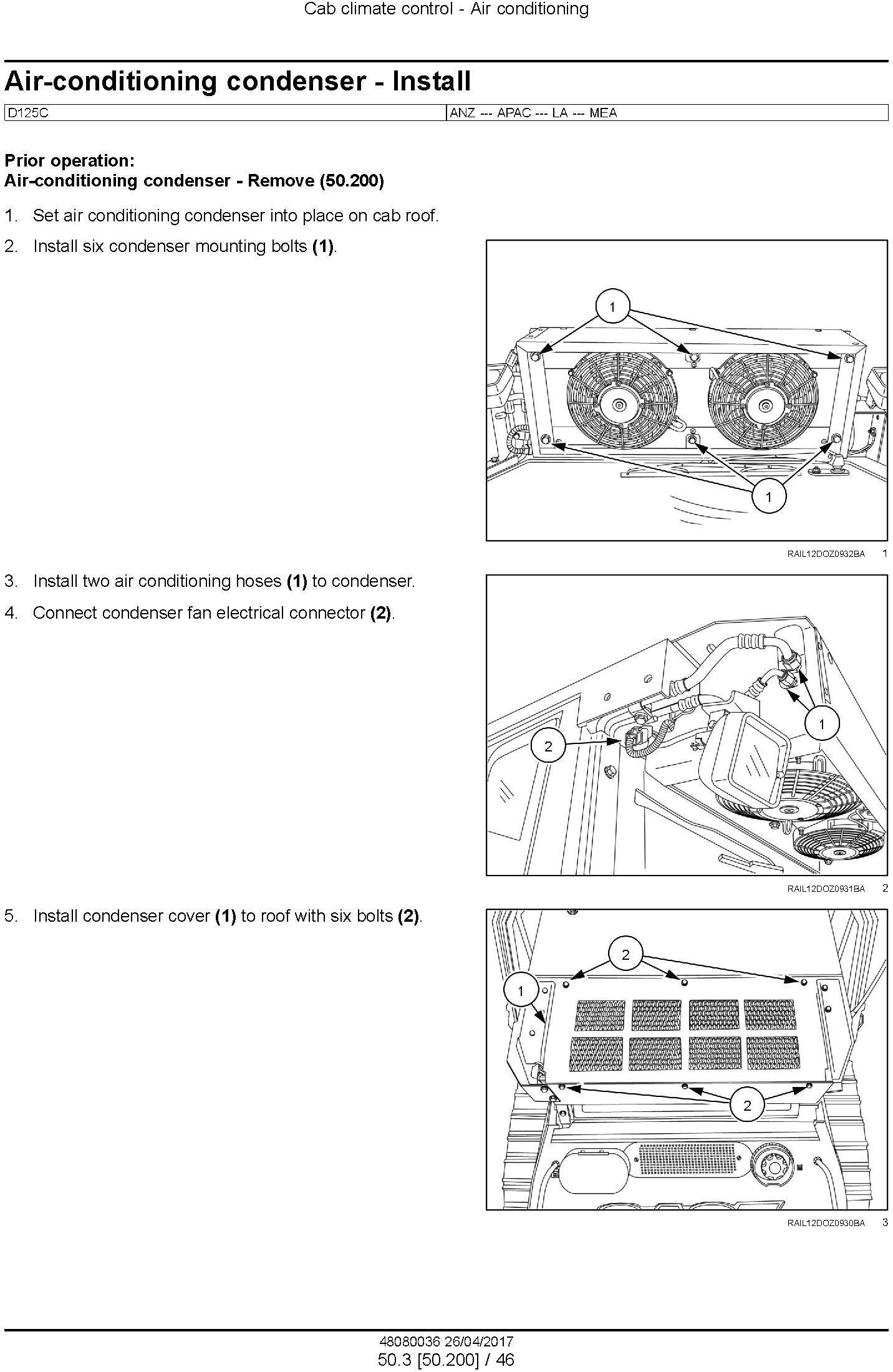 New Holland D125C Tier 2 Crawler Dozer Service Manual - 3