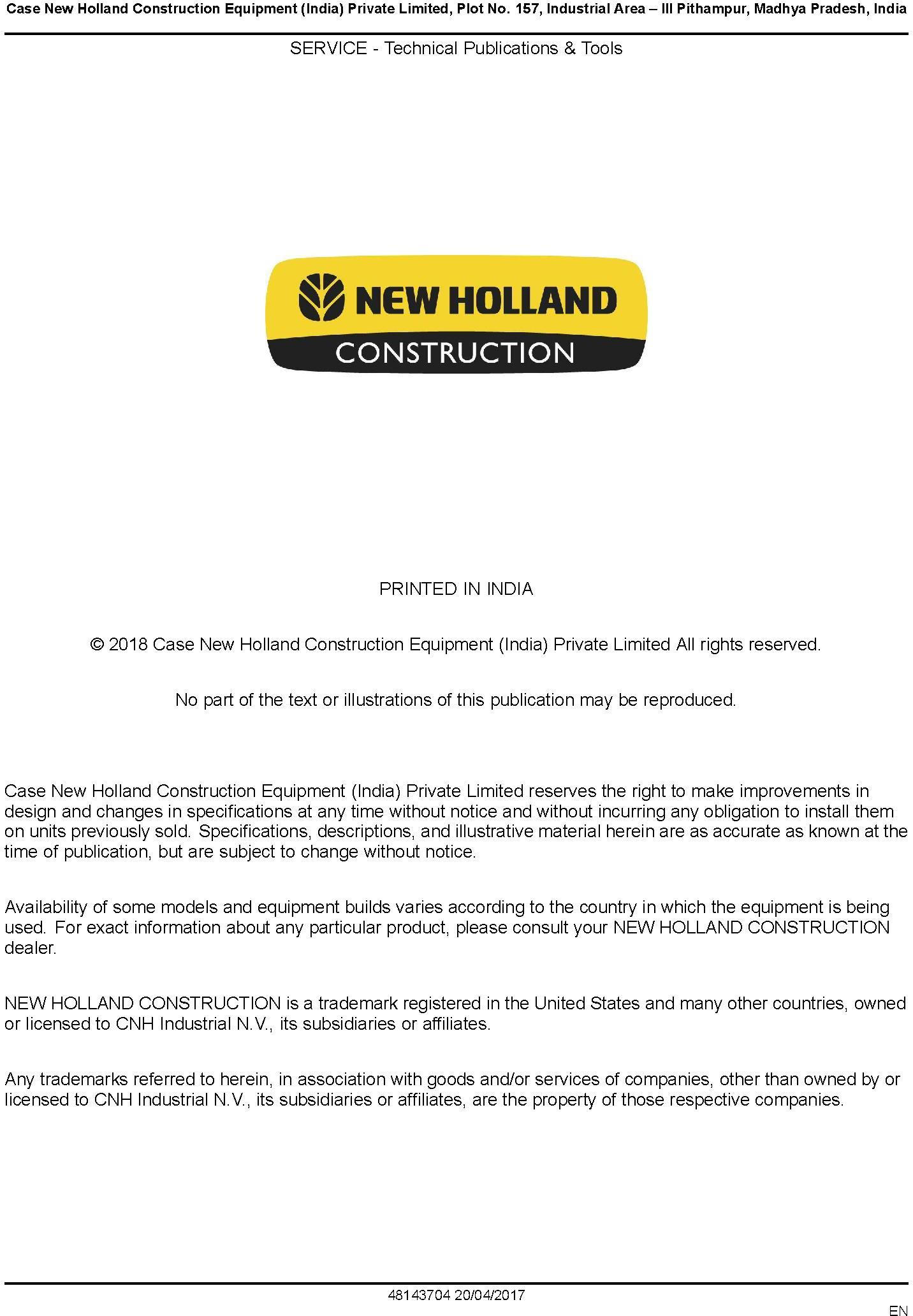 New Holland B80B Backhoe loader Service Manual - 3
