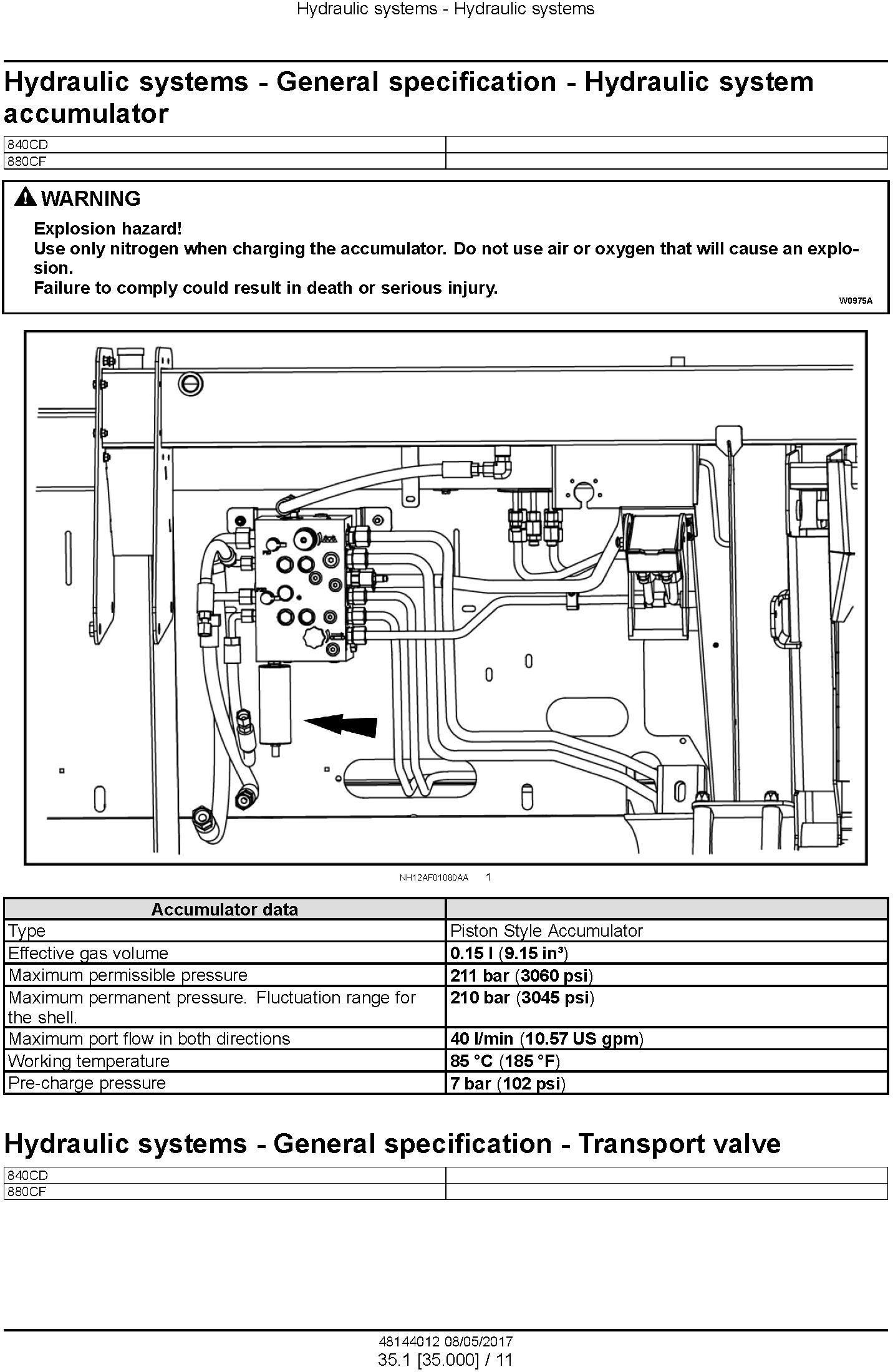 New Holland 840CD, 880CF (PIN: YHH042800 and above) Draper header Service Manual - 3