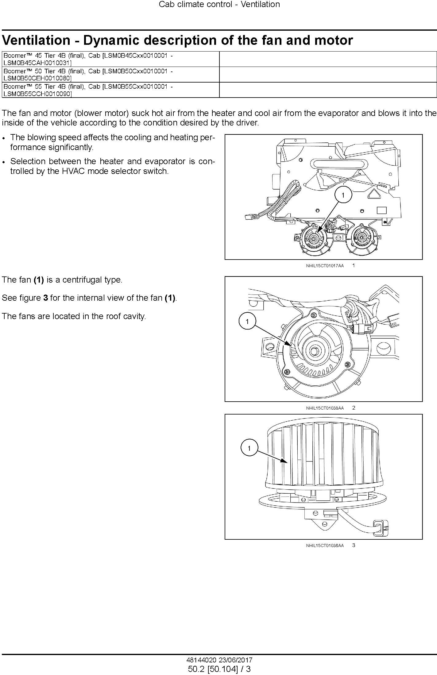 New Holland Boomer 45, Boomer 50, Boomer 55 Tier 4B final Compact Tractor Service Manual (USA) - 2