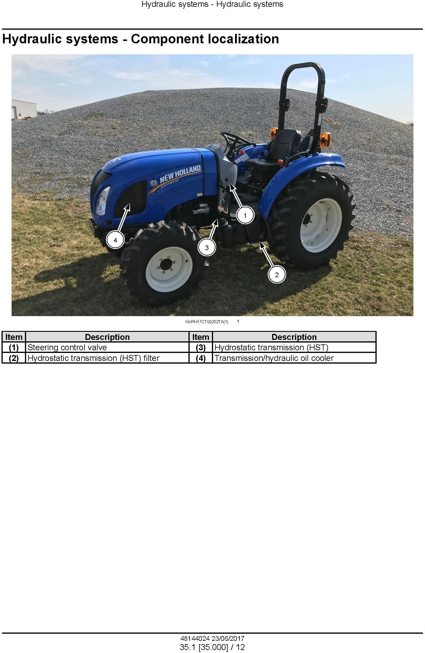 New Holland Workmaster 35, Workmaster 40 ROPS Tier 4B final Compact Tractor Service Manual (USA) - 1