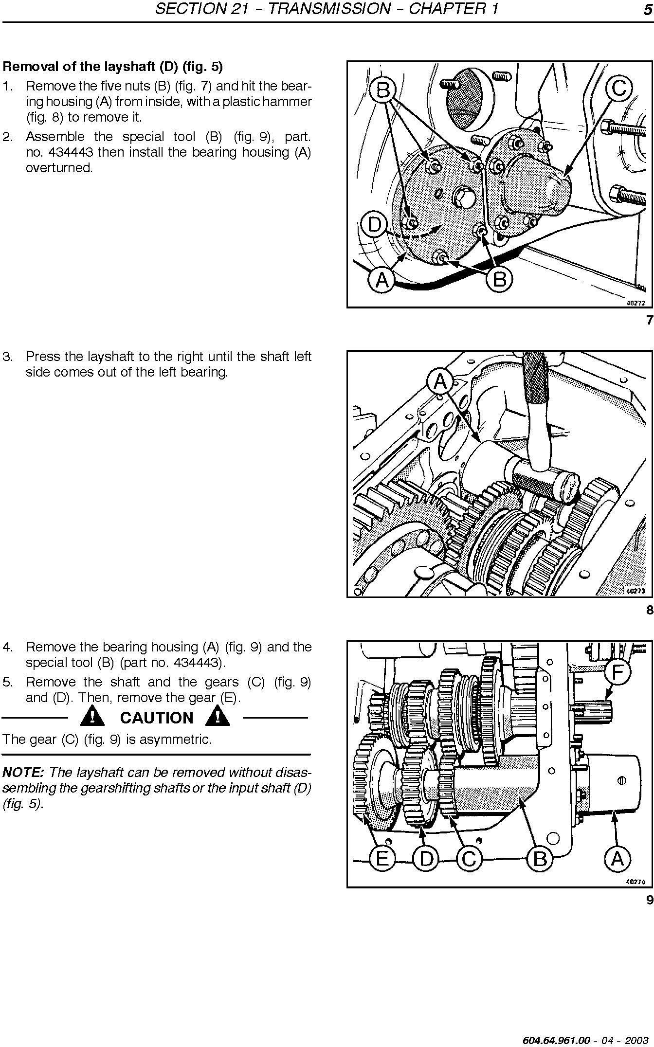 New Holland TC54, TC56, AL59 Utility Combine Service Manual - 1