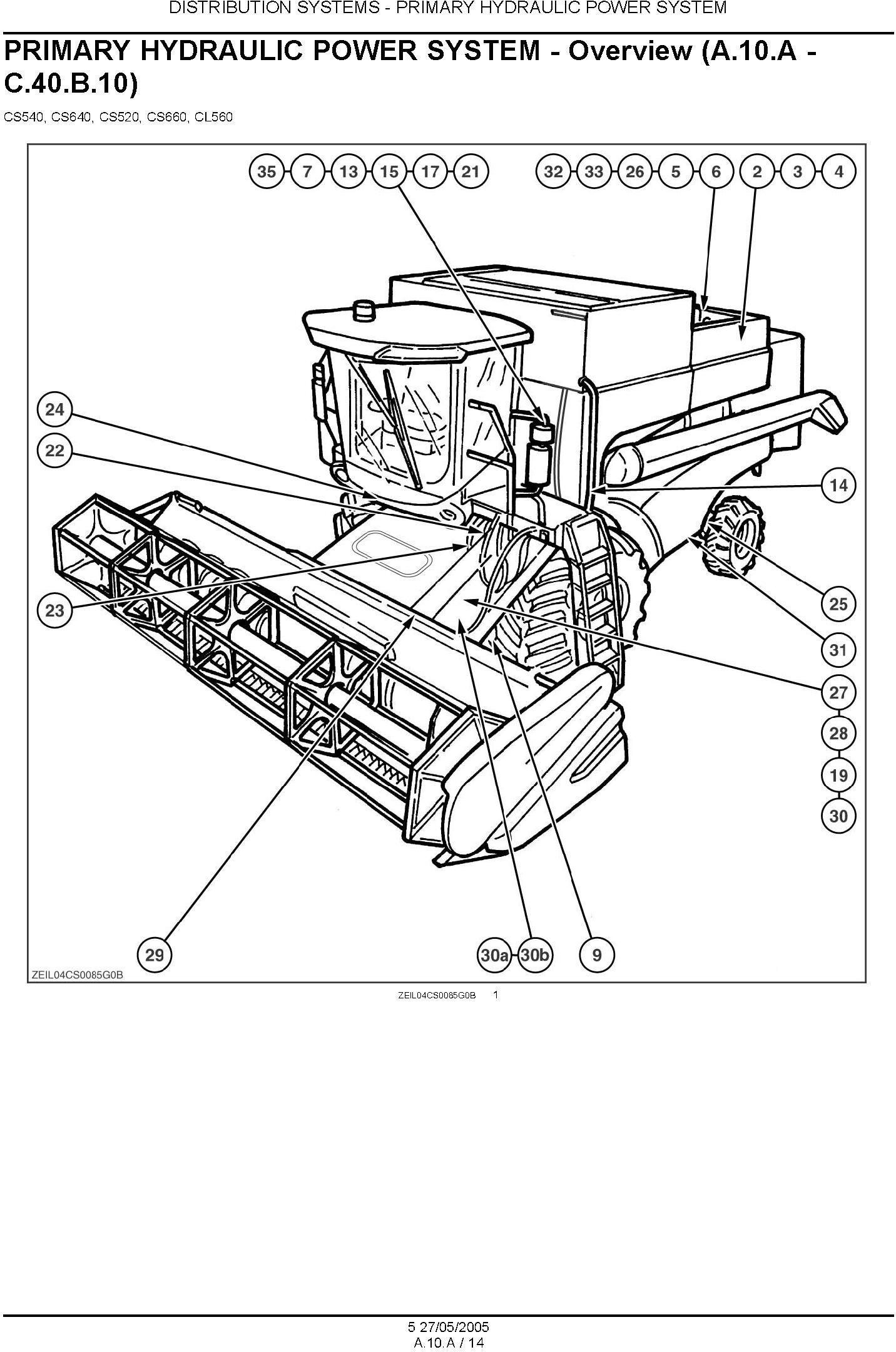 New Holland CS520, CS540, CS640, CS660, CL560 Combine Service Manual - 1