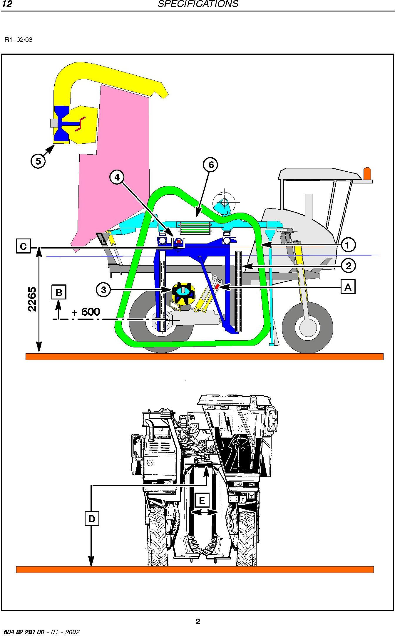 New Holland BRAUD SB65 Grape Harvester Service Manual - 1