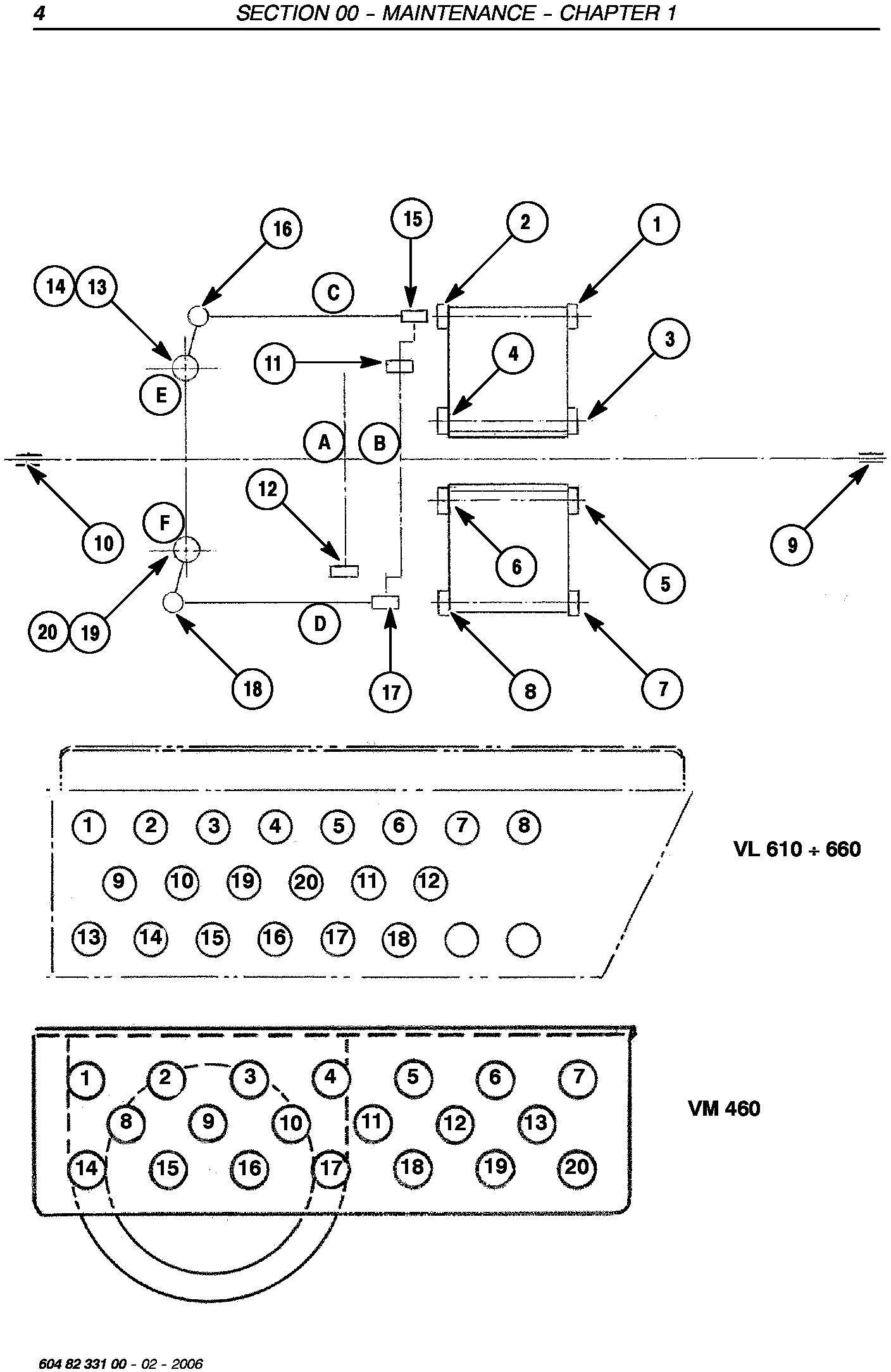 New Holland VL570,VL600,VL610,VL620,VL630,VL640,VL660, VM370,VM460,VN300 Grape Harvester Service Manual - 2