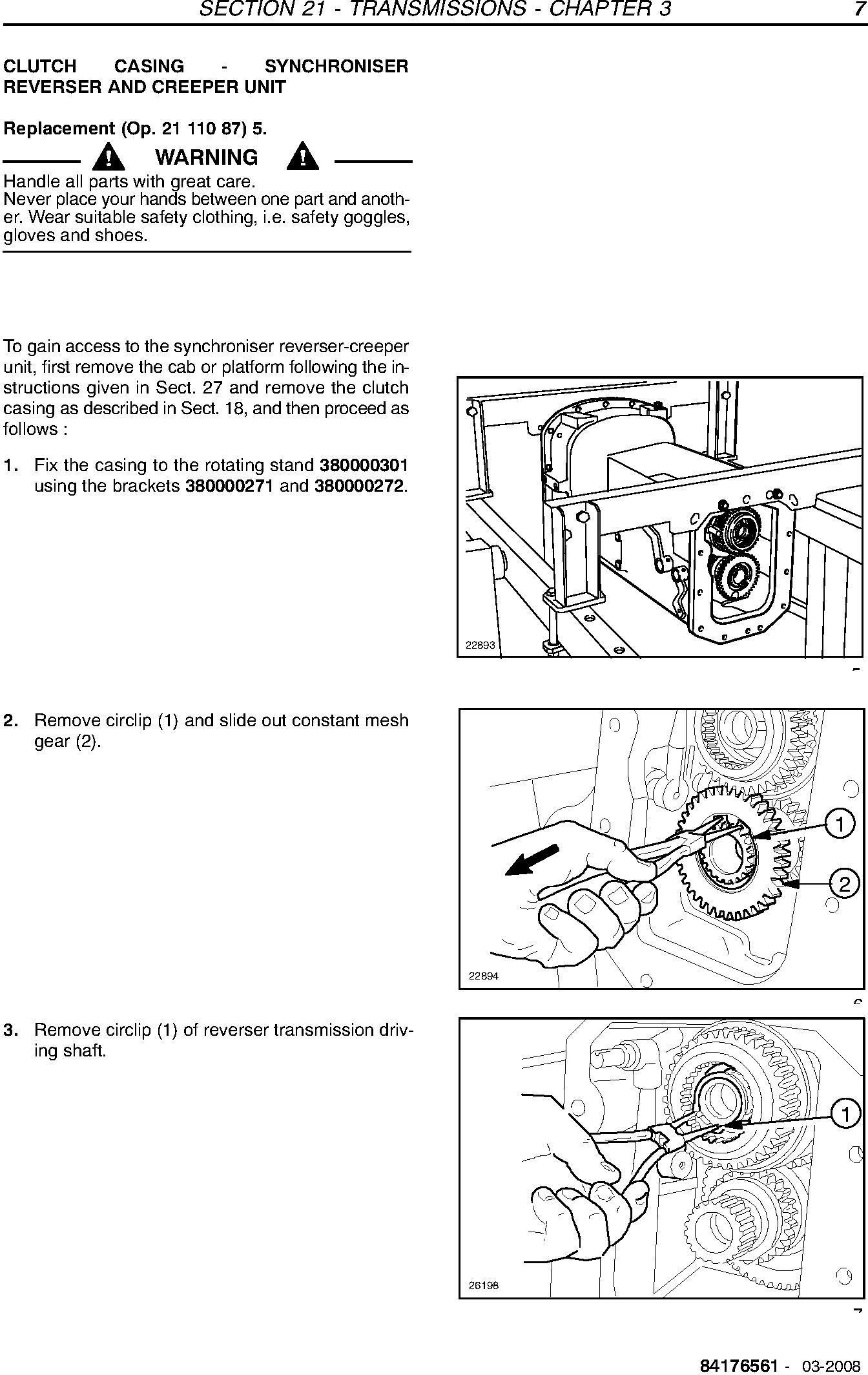 New Holland TD5010/TD5020/TD5030/TD5040/TD5050 Tractors Agricultural Service Manual - 2
