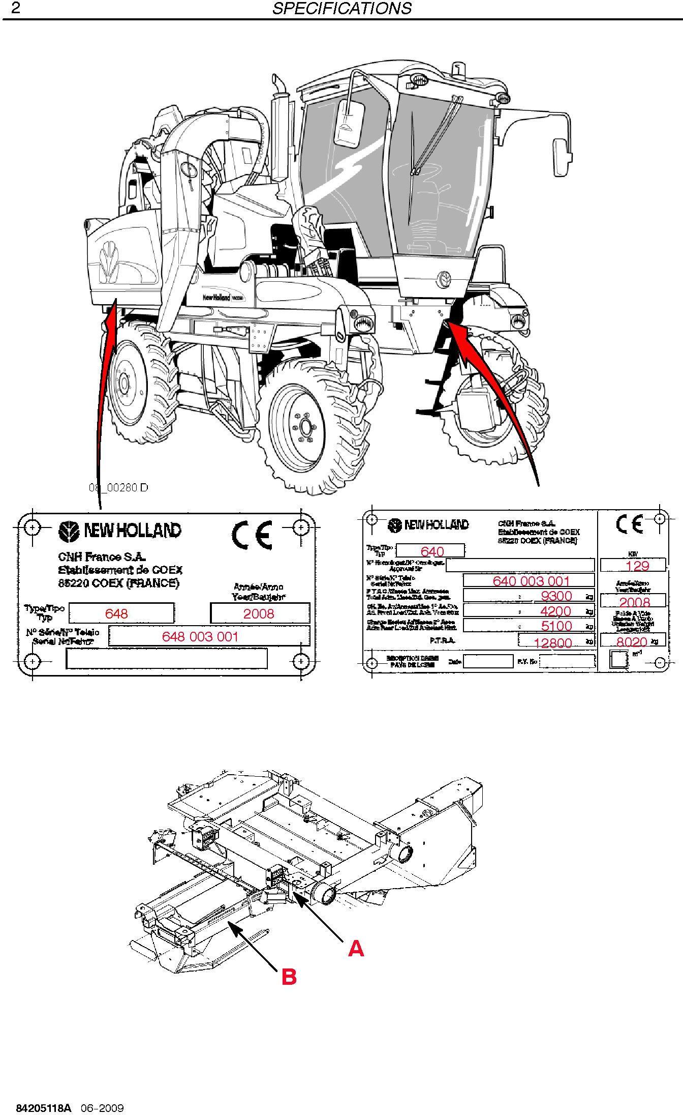 New Holland VN2080 Grape Harvester Service Manual - 1