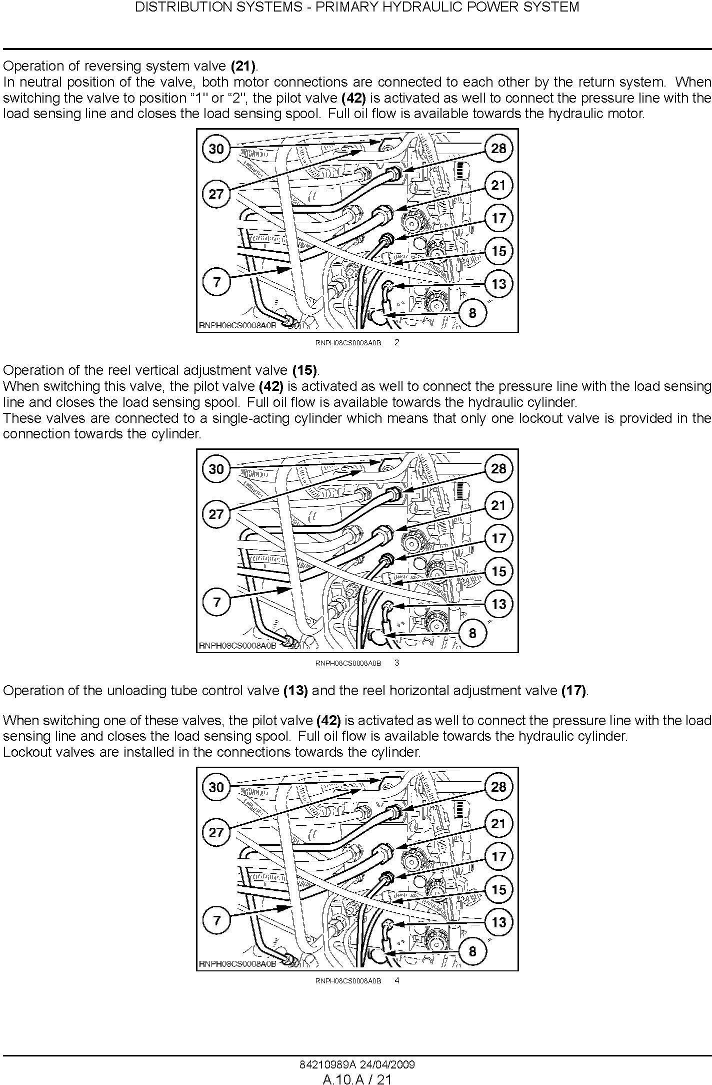 New Holland CSX7040, CSX7050, CSX7060, CSX7070, CSX7080 Combine Service Manual - 2