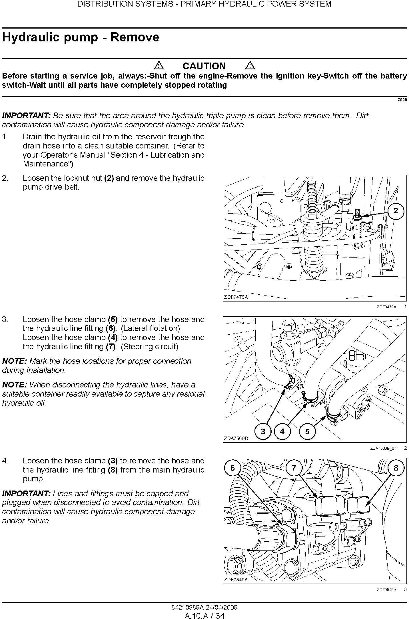 New Holland CSX7040, CSX7050, CSX7060, CSX7070, CSX7080 Combine Service Manual - 3