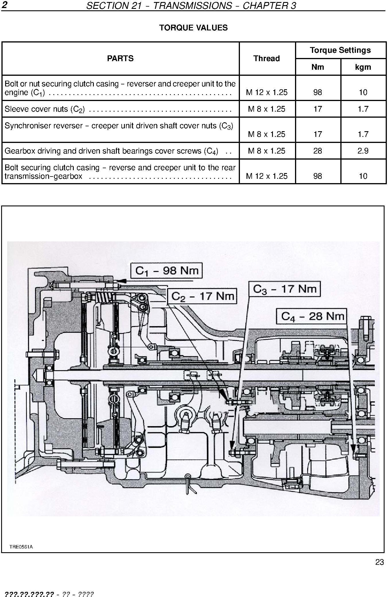 New Holland TD60, TD70, TD80, TD90, TD95 Straddle Mount Model Tractors Service Manual - 2
