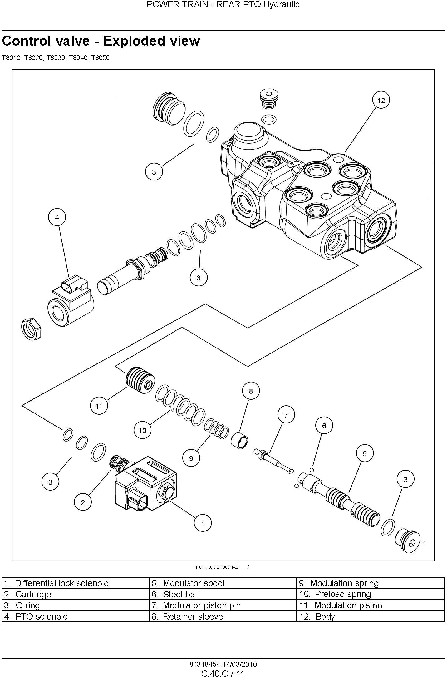 New Holland T8010, T8020, T8030, T8040, T8050 Agricultural Tractor Service Manual - 2