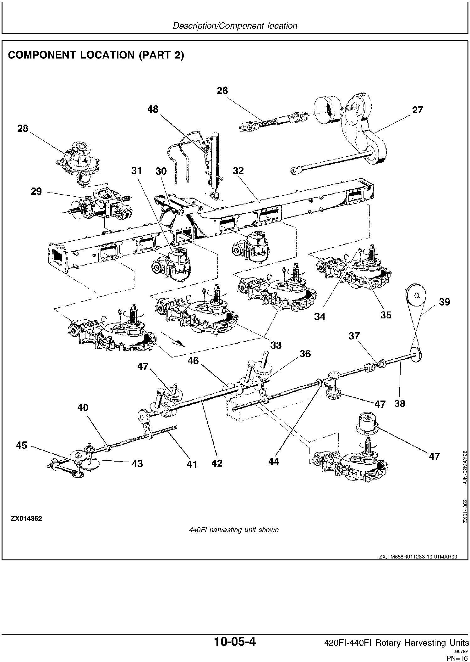 New Holland 420FI, 440FI Rotary Harvesting Headers Service Manual - 2